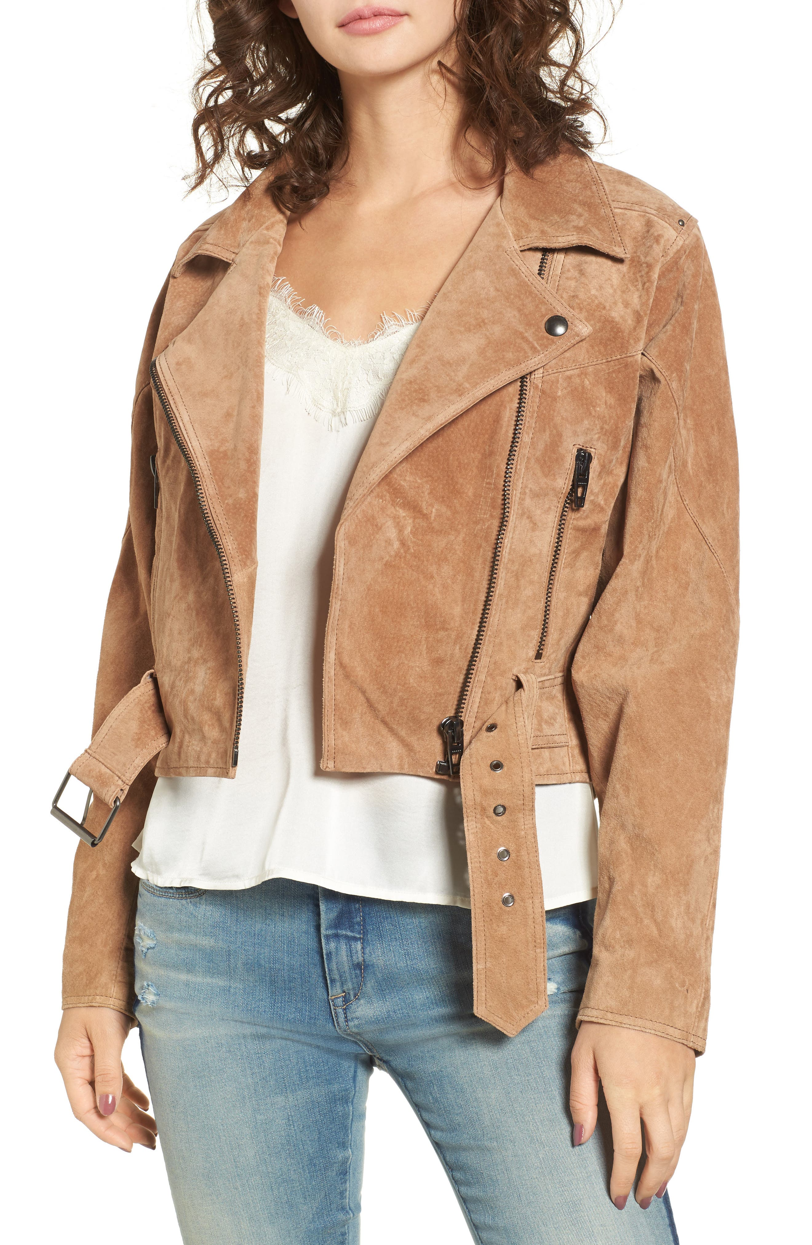 Dolman Sleeve Sueded Moto Jacket,                             Main thumbnail 1, color,                             Desert Sand
