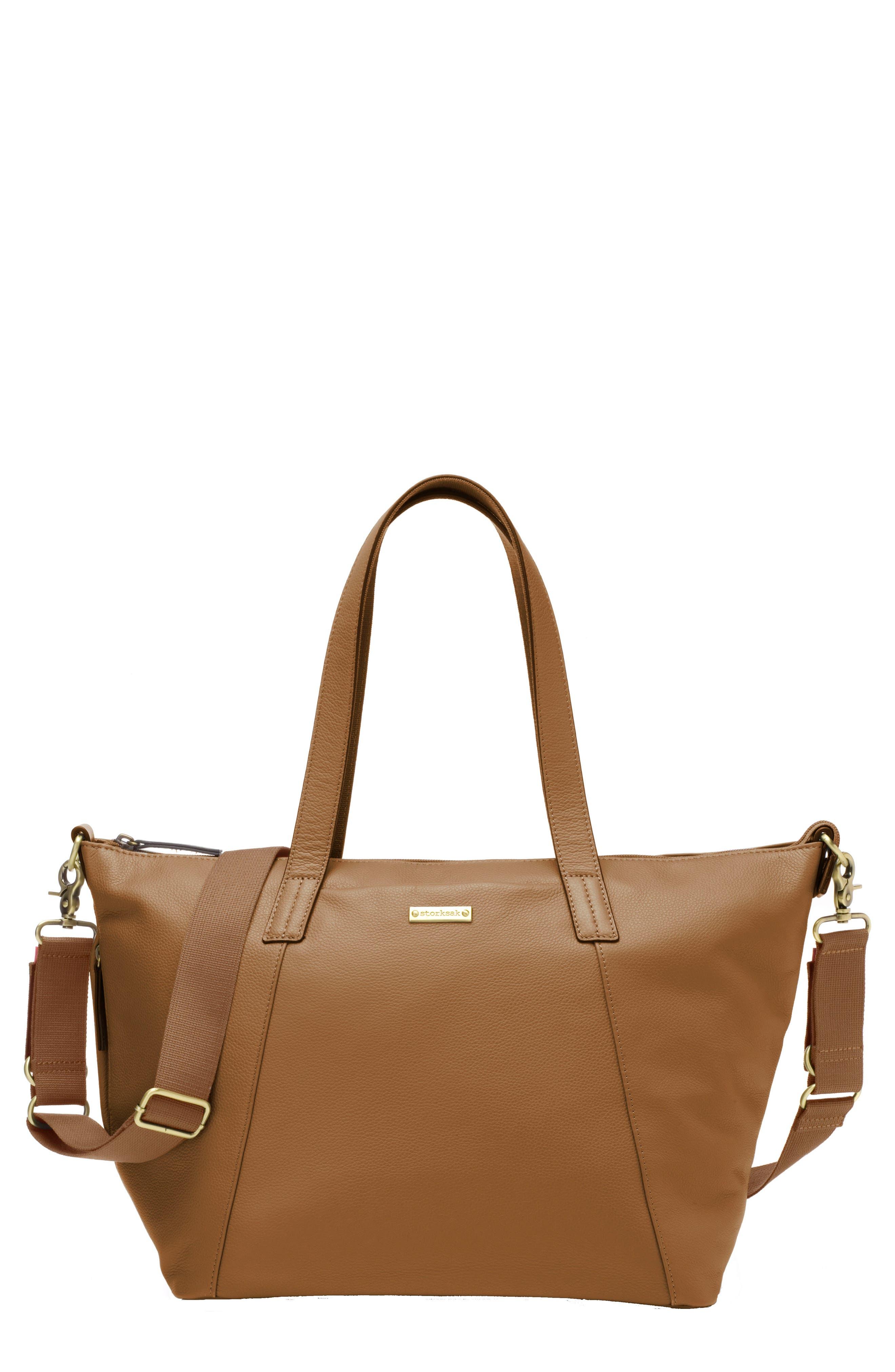 Alternate Image 1 Selected - Storksak NOA Leather Diaper Bag