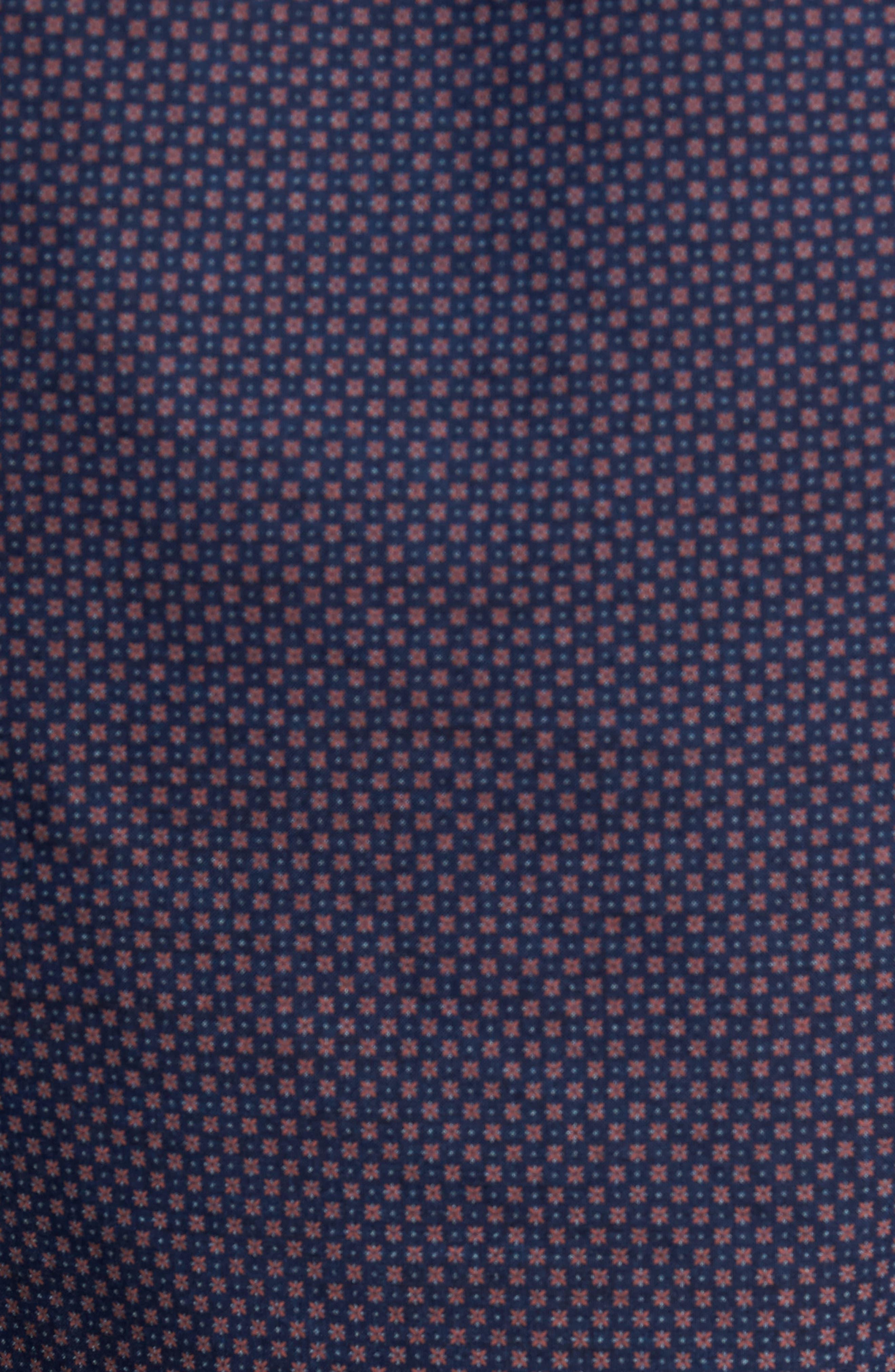 Dyed Print Sport Shirt,                             Alternate thumbnail 5, color,                             Navy