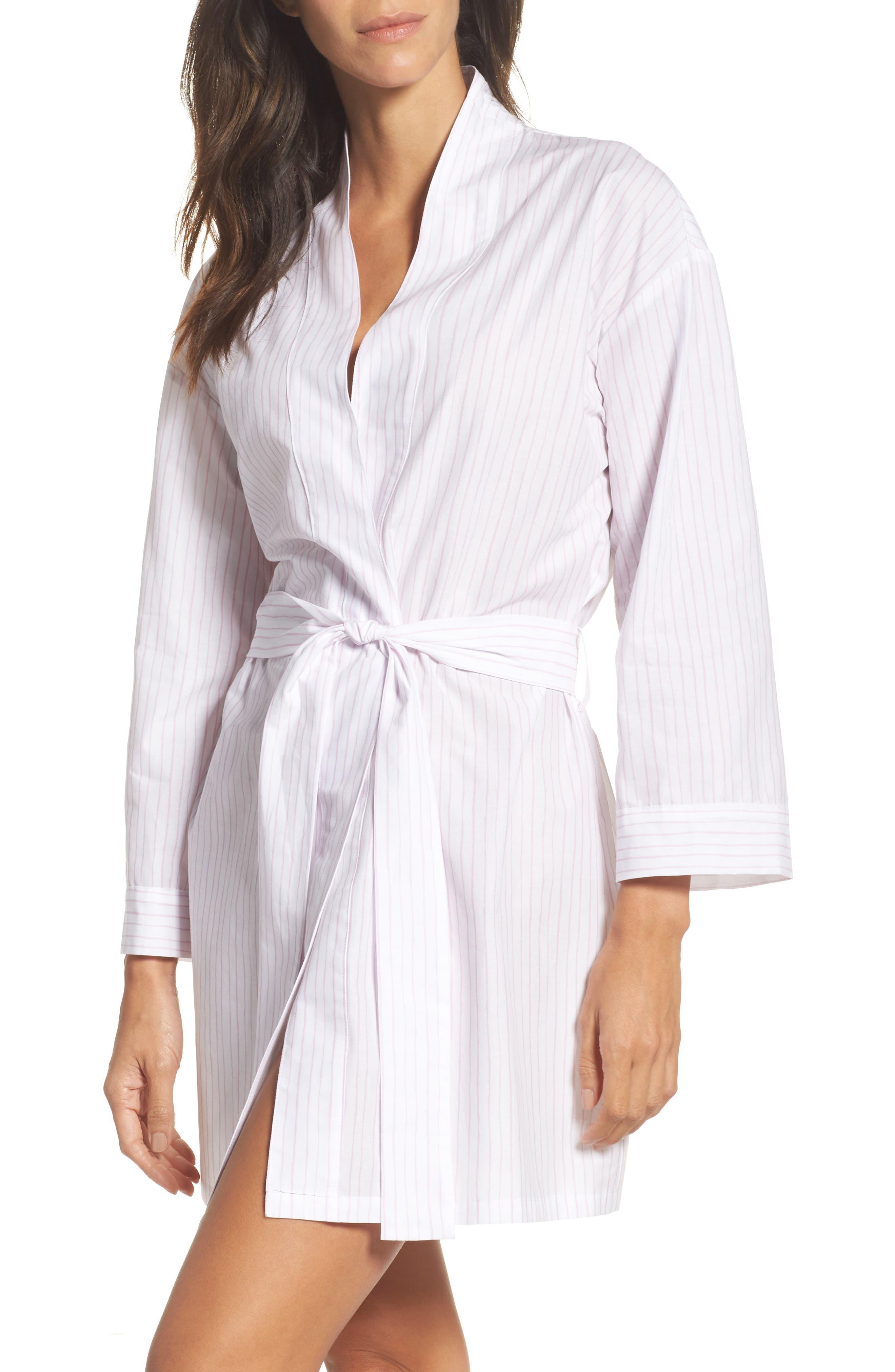 Stripe Robe,                         Main,                         color, Pink Stripe
