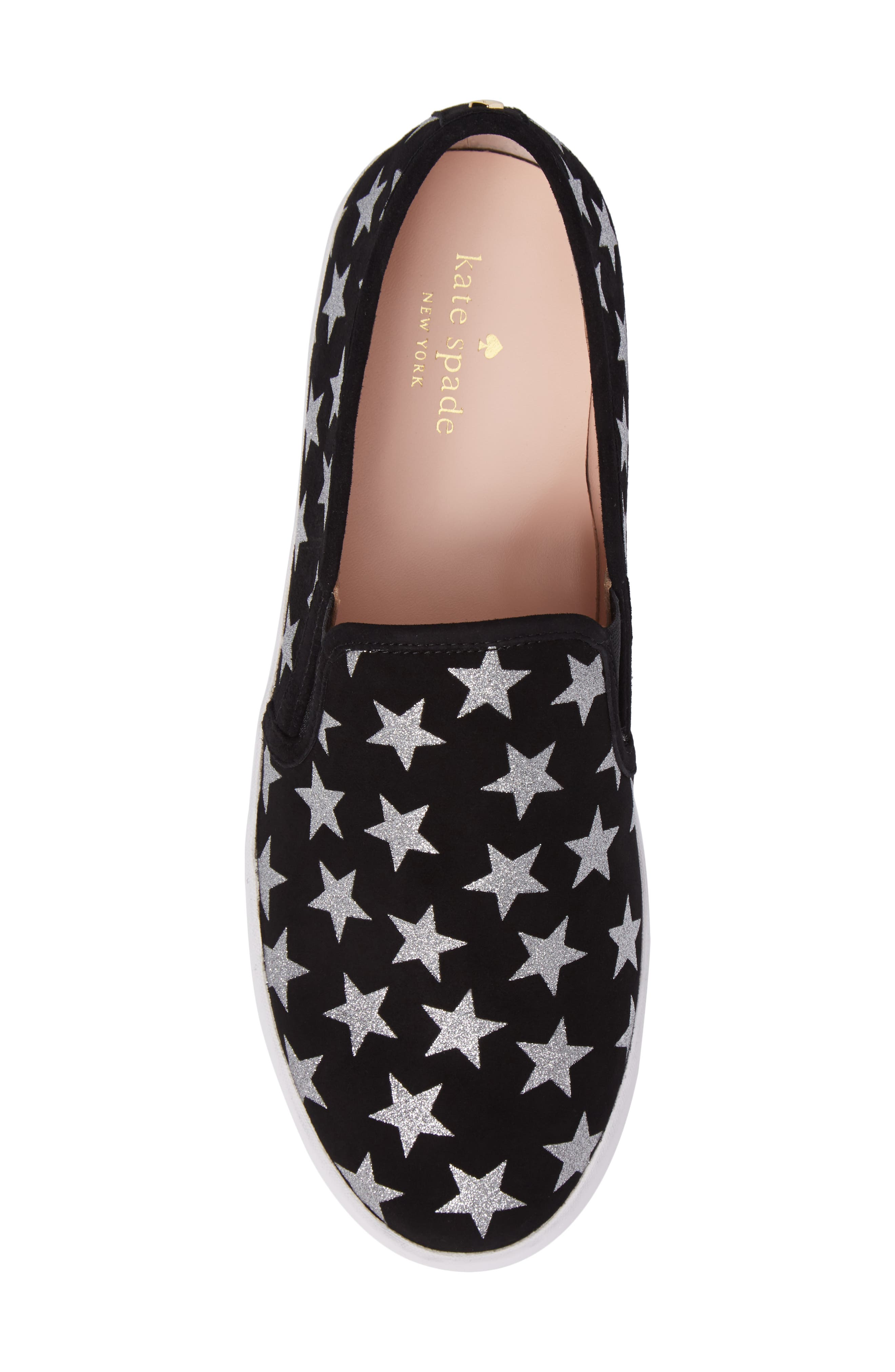 liberty slip-on sneaker,                             Alternate thumbnail 5, color,                             Black/ Silver