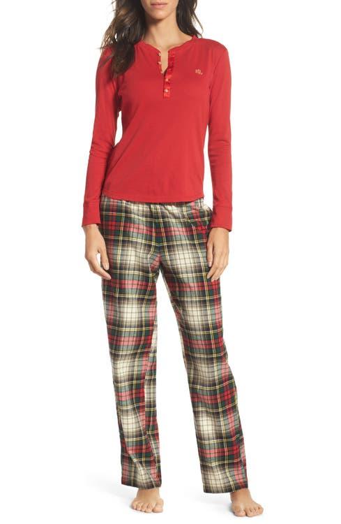 Main Image - Lauren Ralph Lauren Henley Pajamas