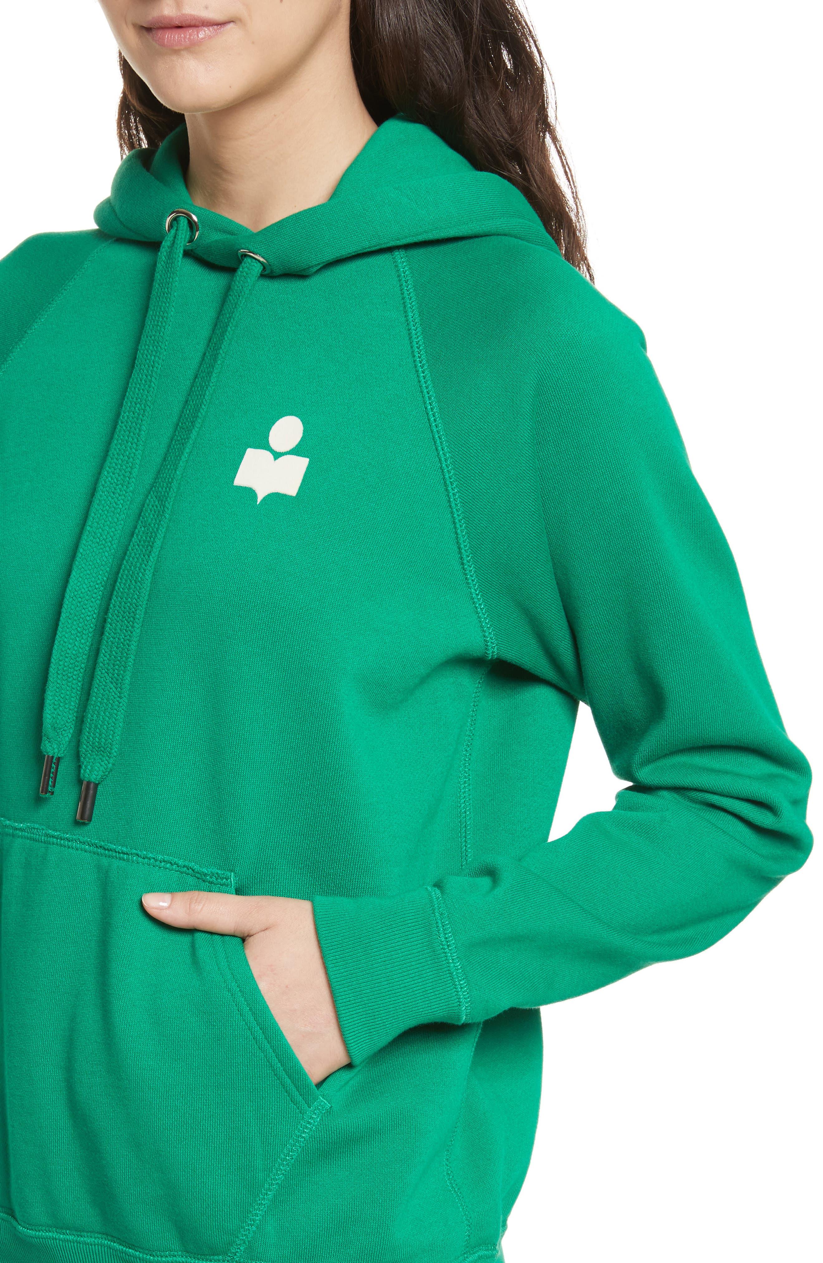 Isabel Marant Étoile Malibu Hoodie,                             Alternate thumbnail 3, color,                             Green