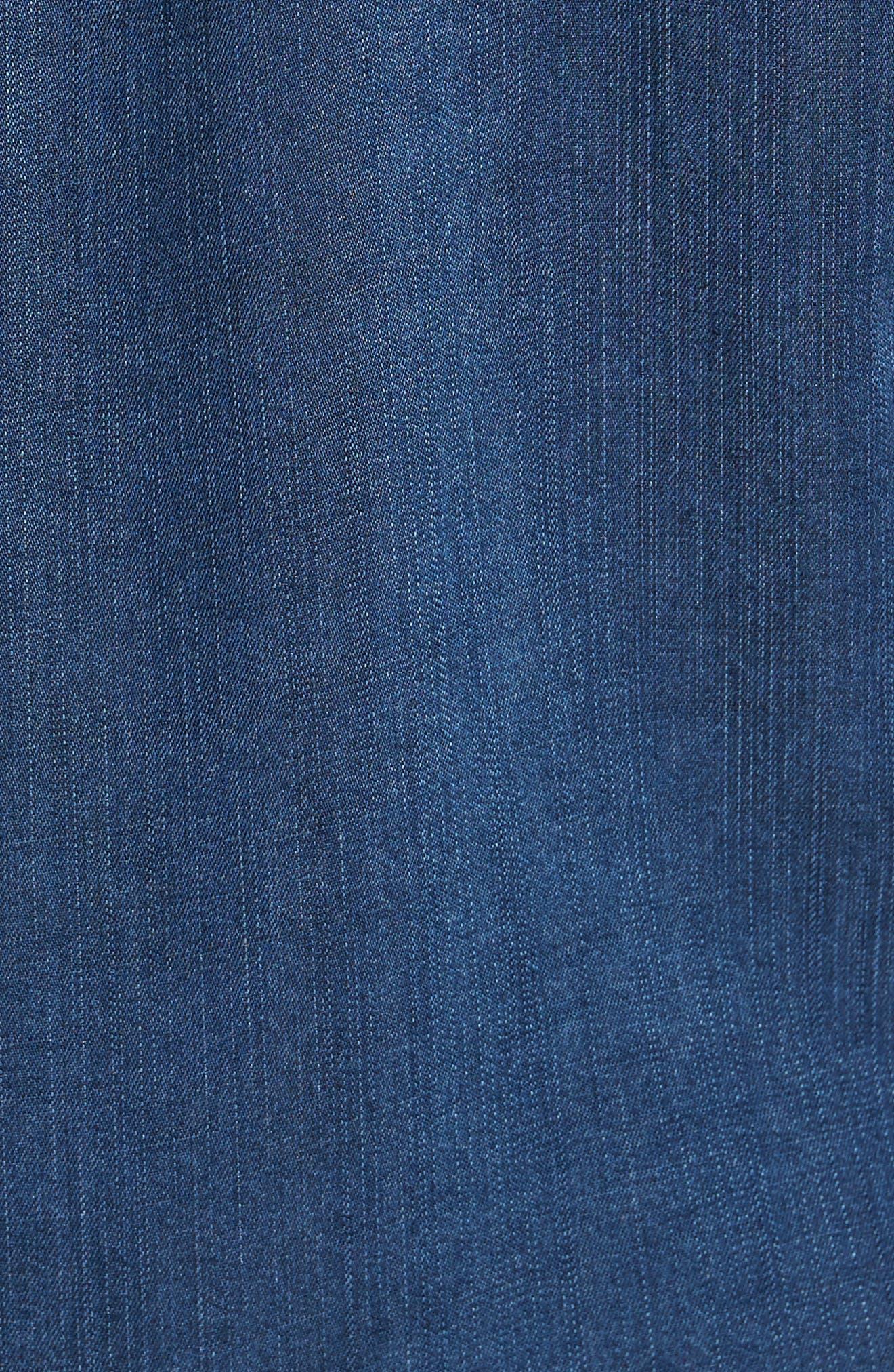 Beckford Denim Sport Shirt,                             Alternate thumbnail 5, color,                             Midnight Vintage