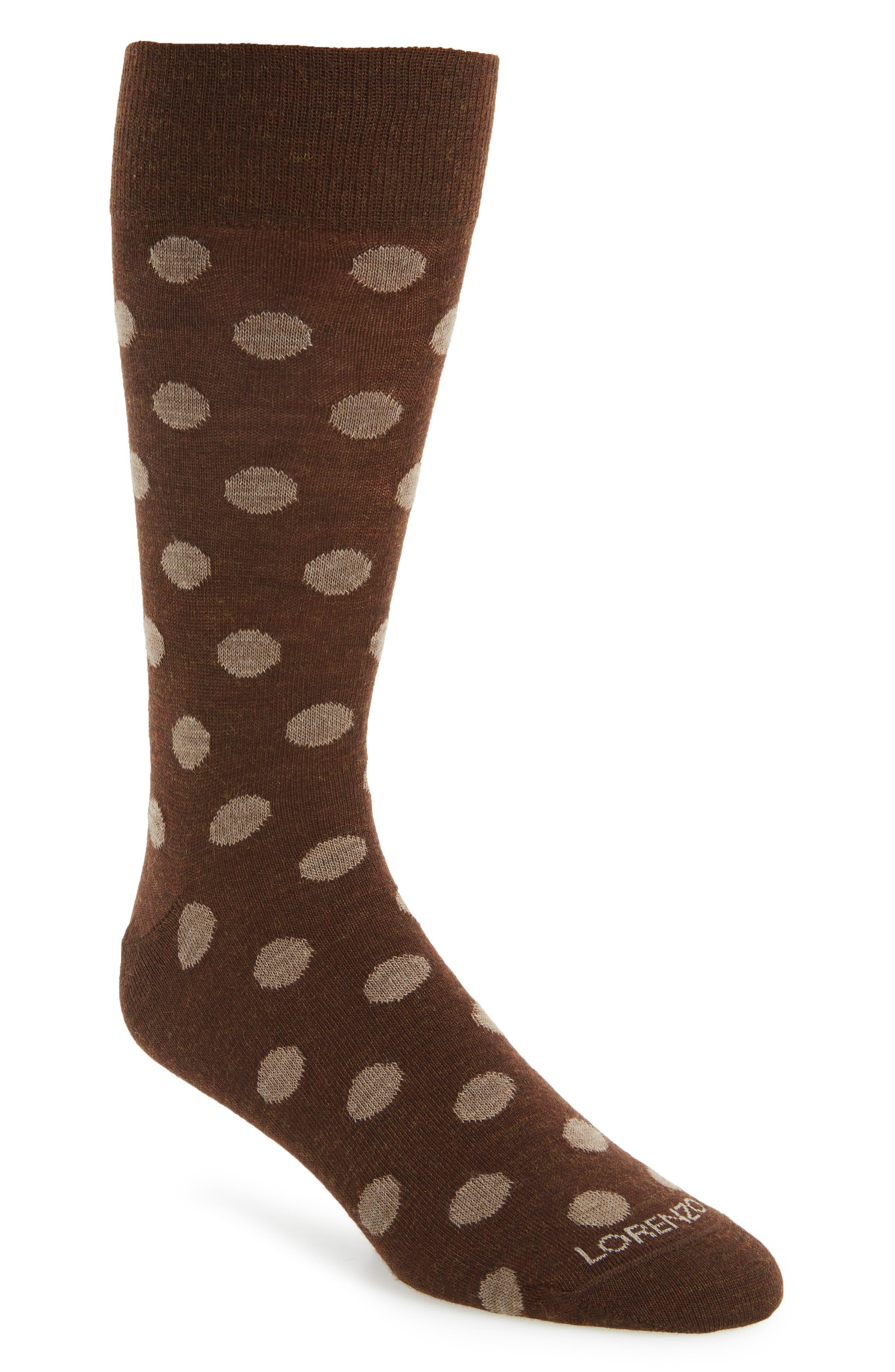 Alternate Image 1 Selected - Lorenzo Uomo Dot Crew Socks