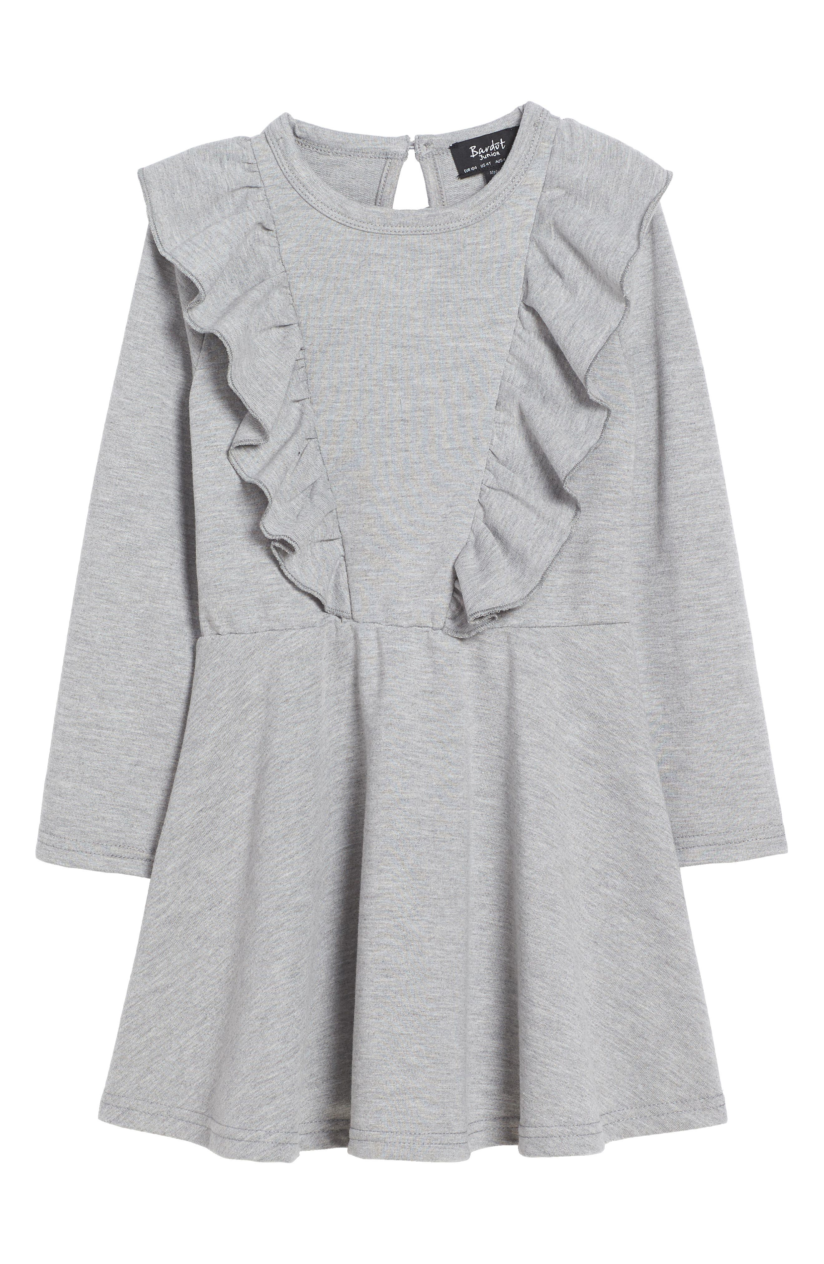 Frill of It Ruffle Dress,                         Main,                         color, Grey Marble