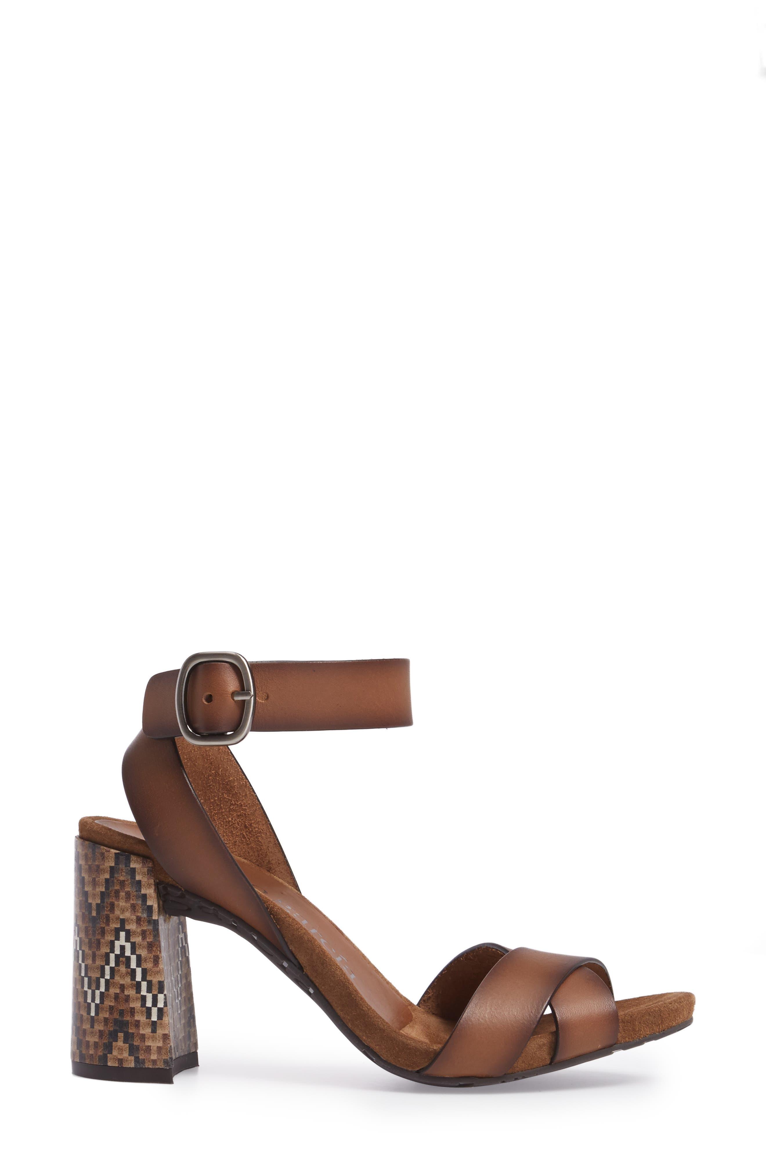 Yemba Embellished Heel Sandal,                             Alternate thumbnail 3, color,                             Cigar Vacchetta
