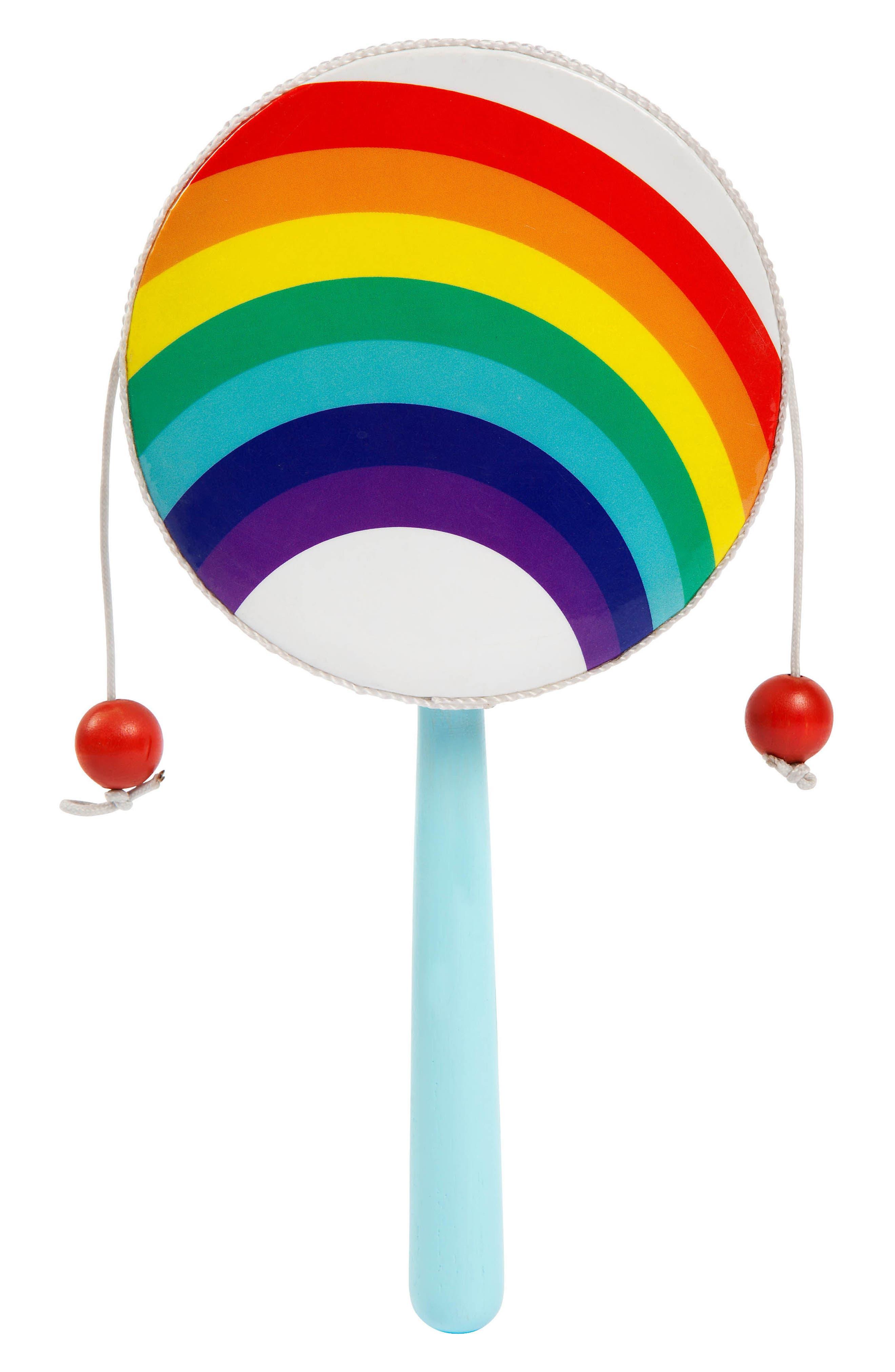 Rainbow Rattle Drum,                         Main,                         color, Multi