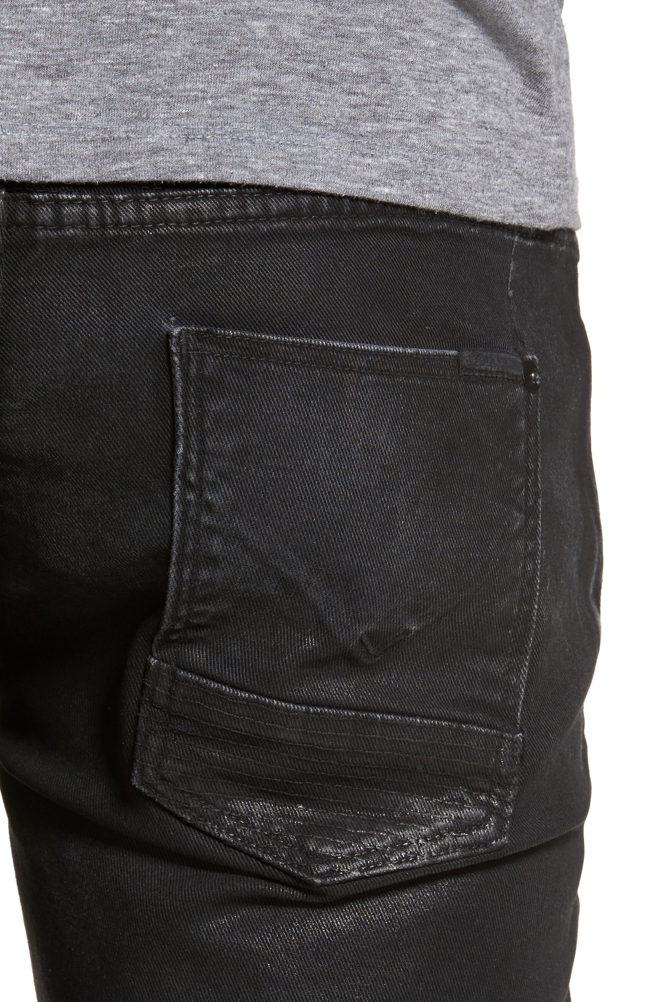 Alternate Image 4  - Hudson Jeans Blinder Biker Skinny Fit Jeans (Skeme)