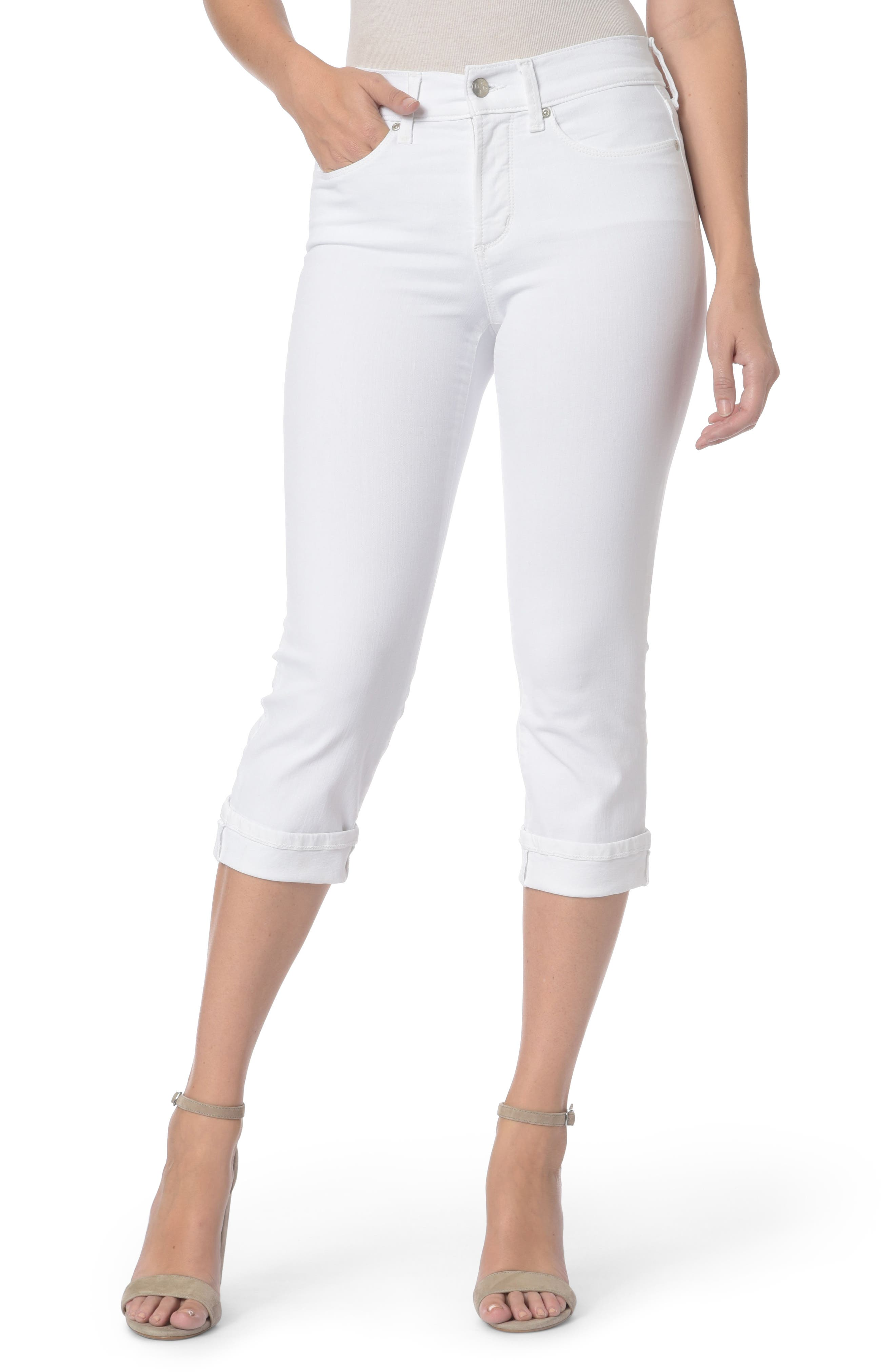 Marilyn Crop Jeans,                         Main,                         color, Optic White
