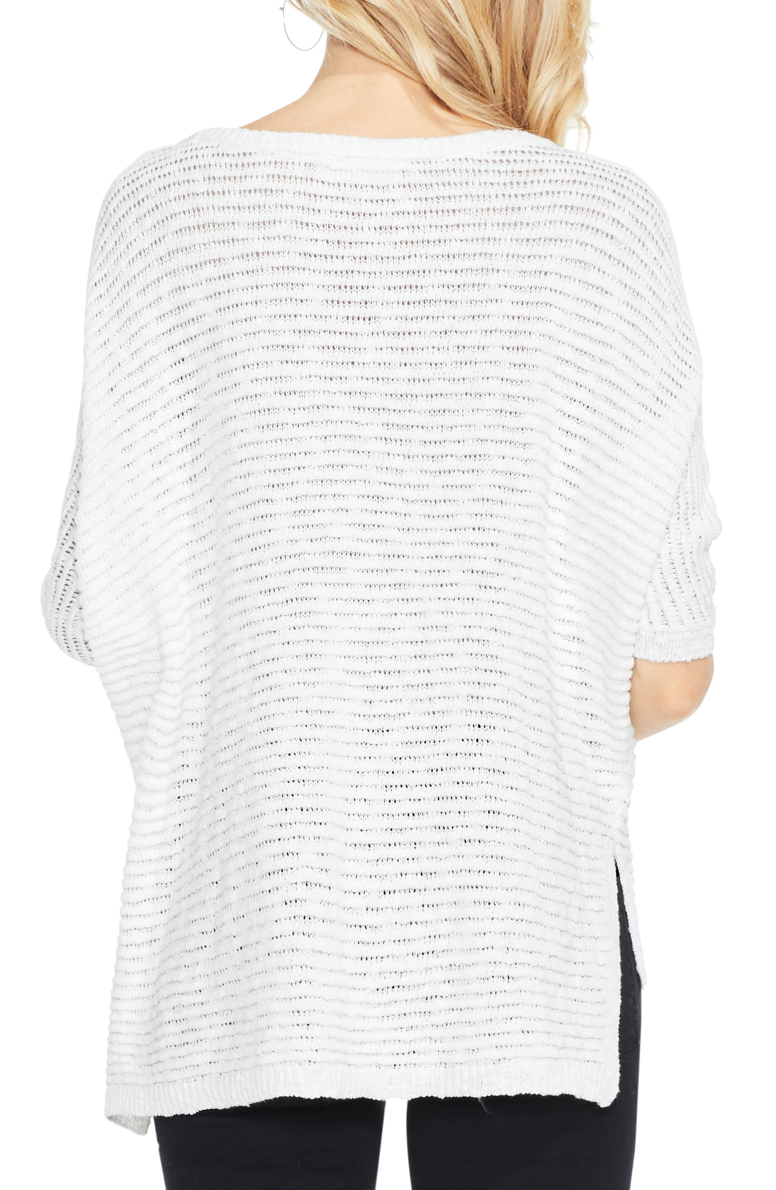 Alternate Image 3  - Two by Vince Camuto Crinkle Yarn Dolman Sleeve Top