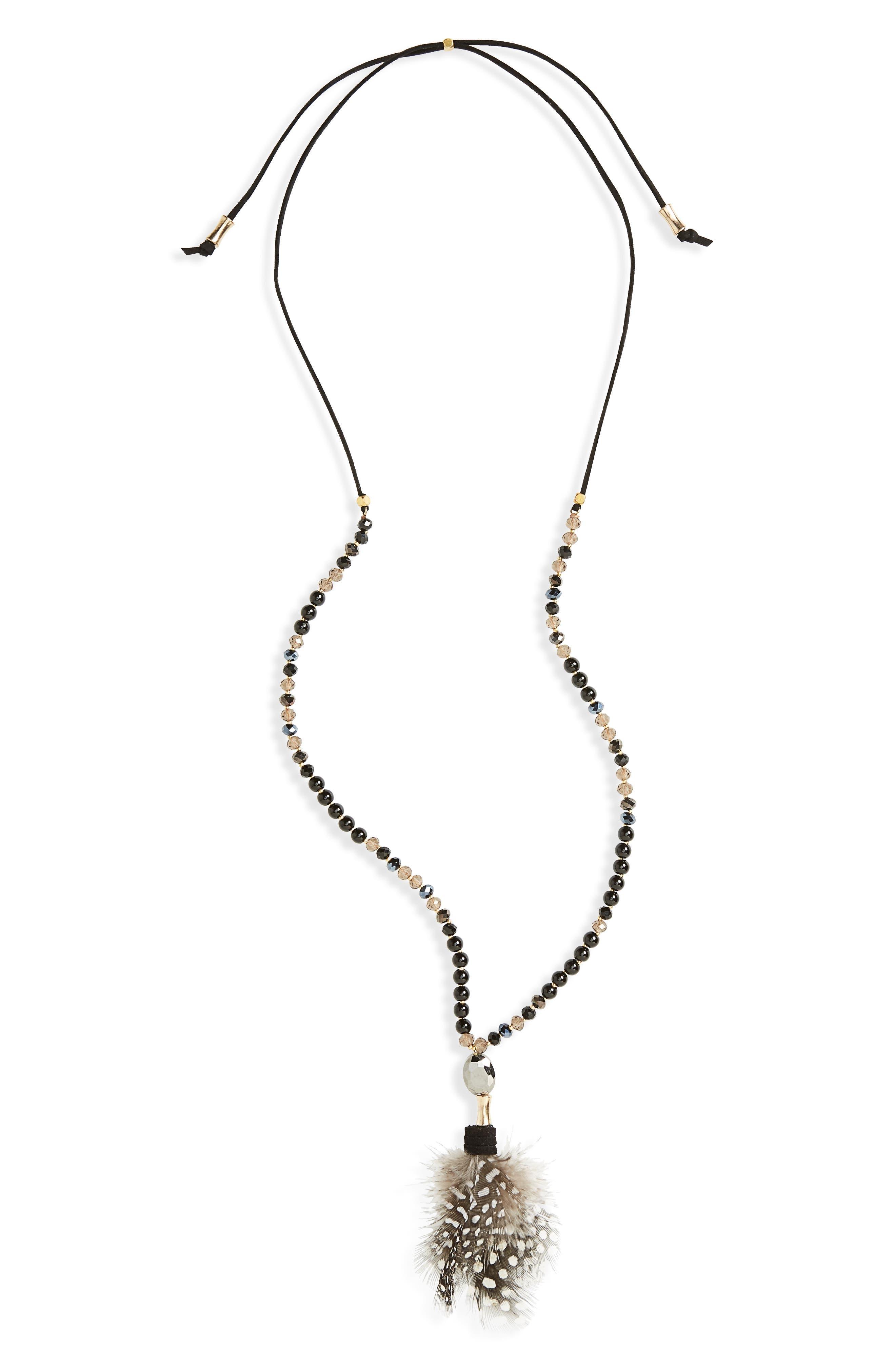 Main Image - Panacea Feather Pendant Necklace