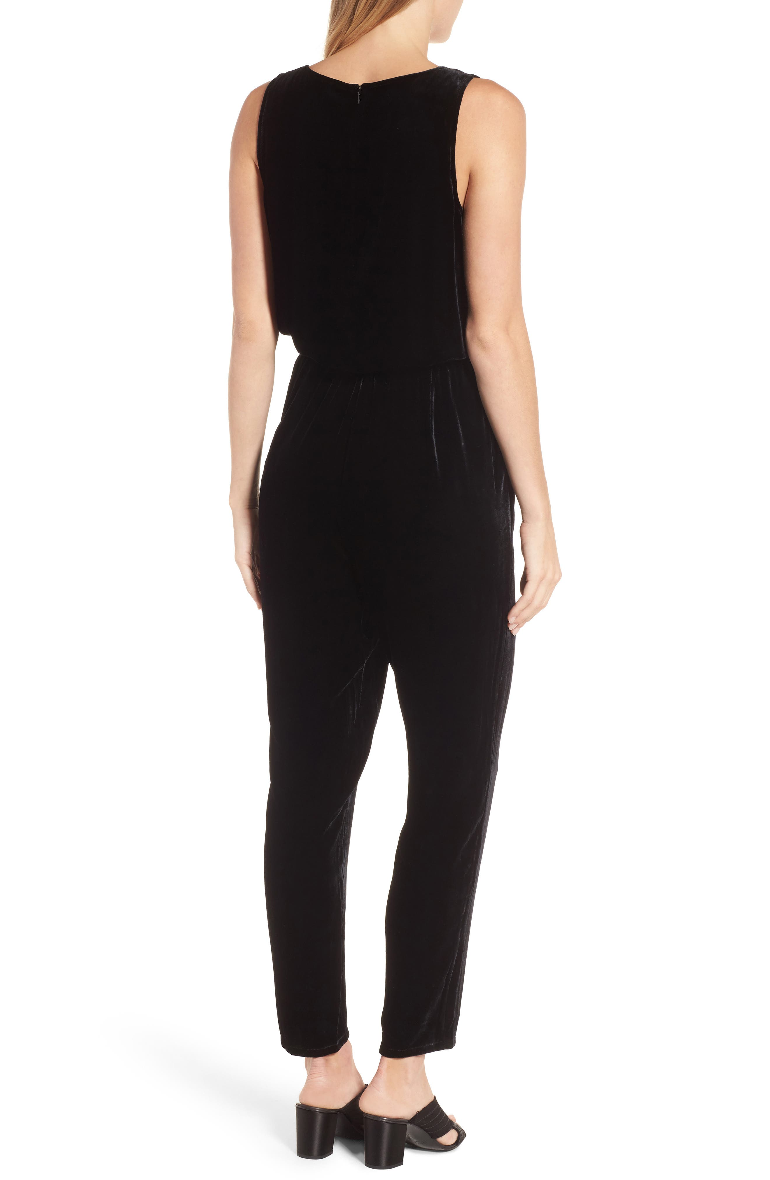 Alternate Image 2  - Eileen Fisher Slouchy Velvet Jumpsuit (Regular & Petite)