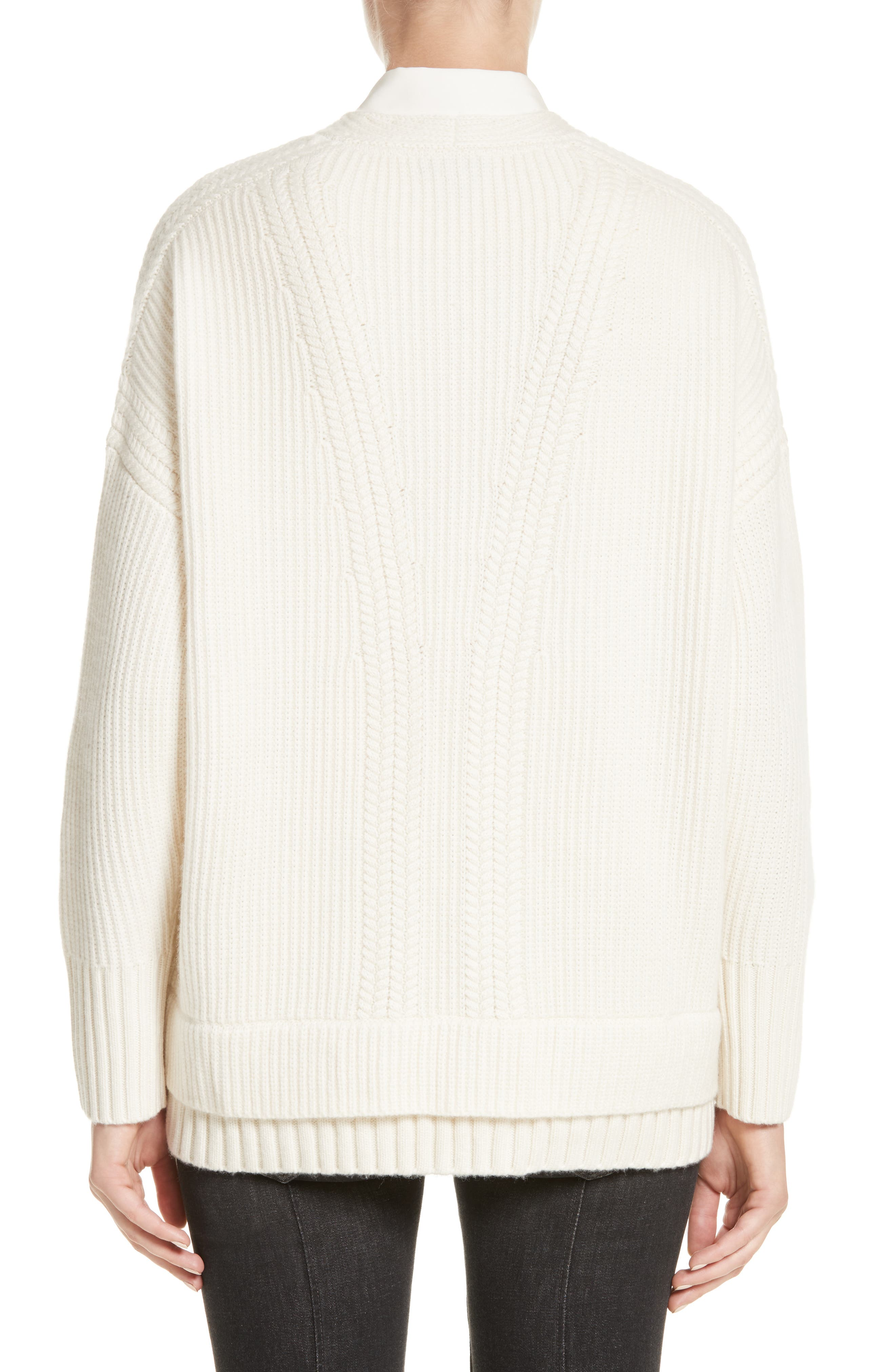 Santerno Wool & Cashmere Cable Knit Sweater,                             Alternate thumbnail 2, color,                             Natural White