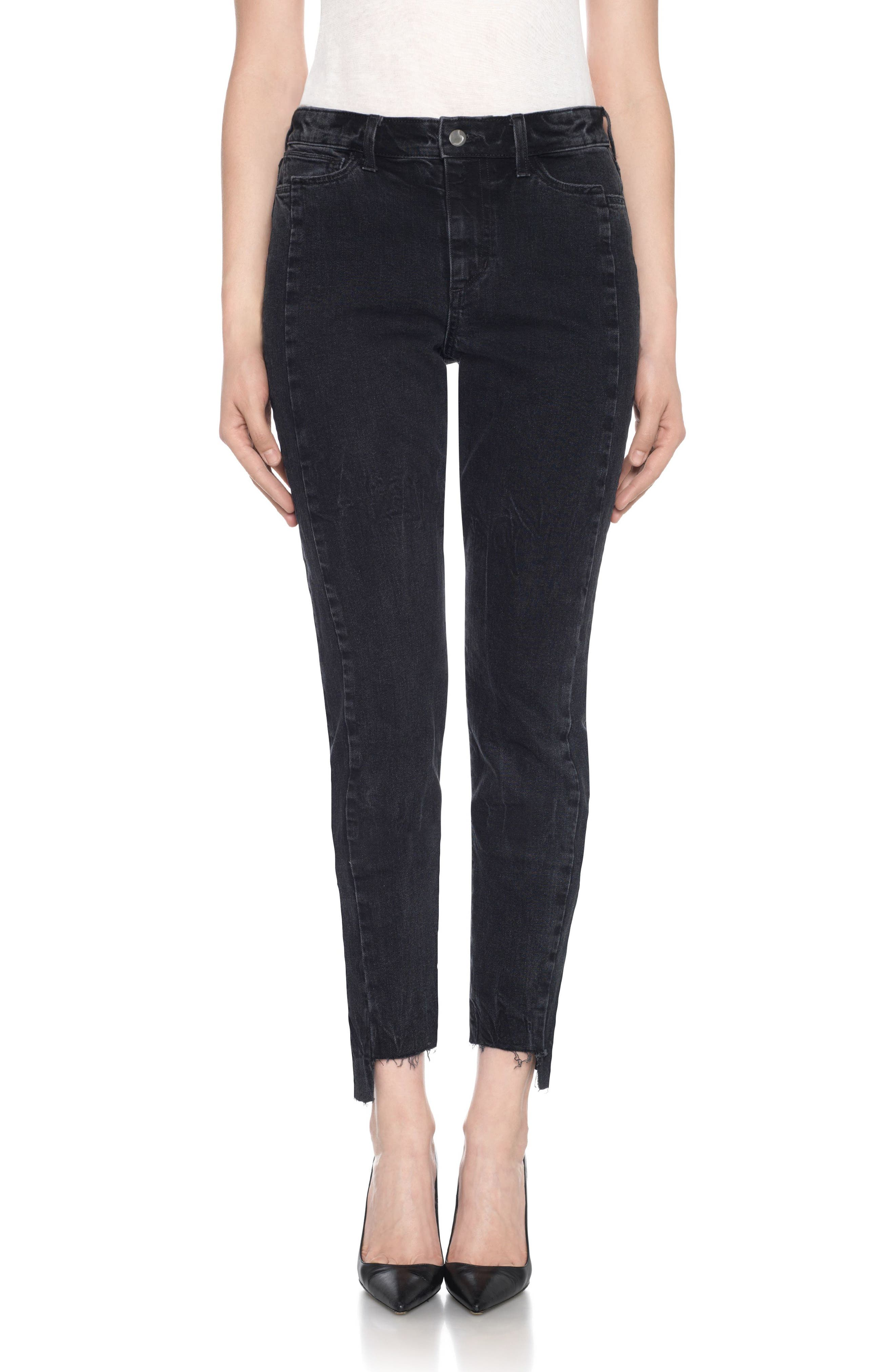 Main Image - Taylor Hill x Joe's Kass Raw Step Hem Ankle Skinny Jeans (Domino)