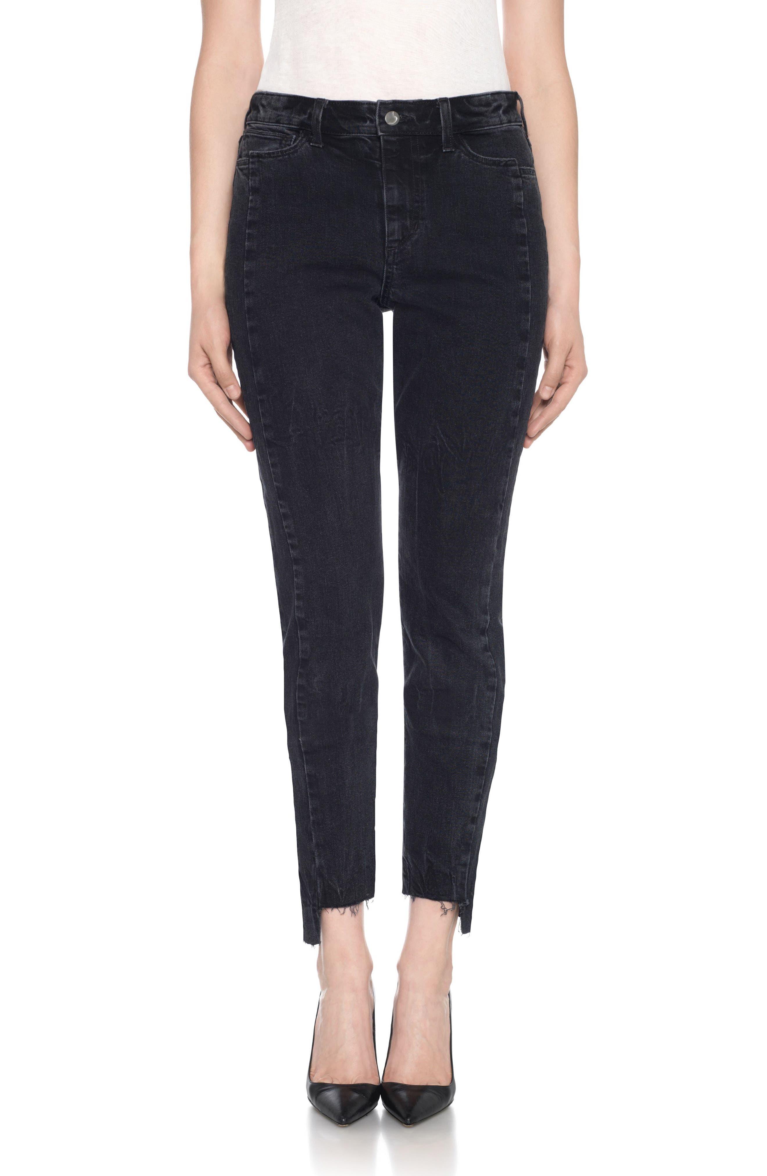 Taylor Hill x Joe's Kass Raw Step Hem Ankle Skinny Jeans (Domino)