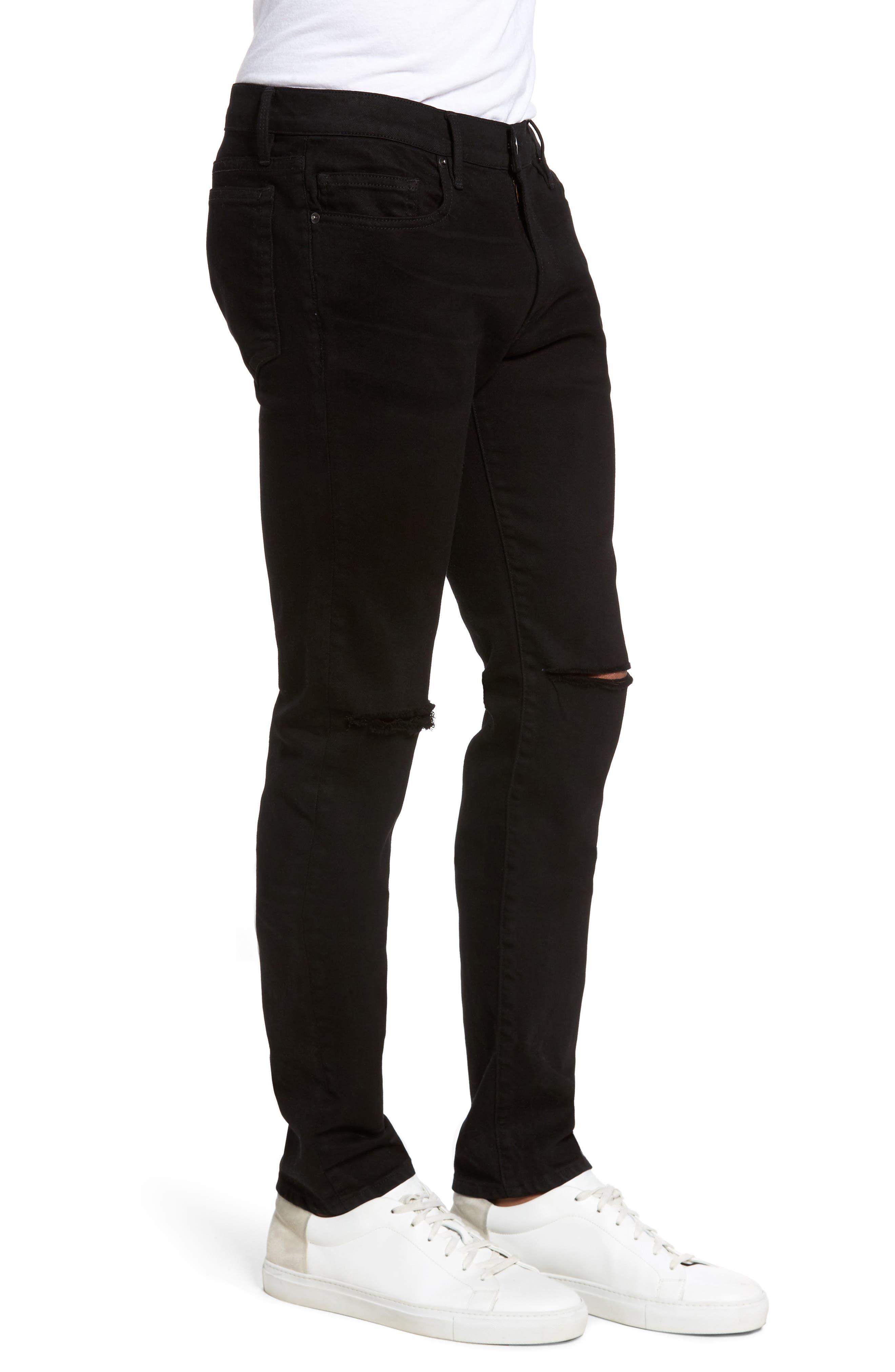 Alternate Image 3  - FRAME L'Homme Slim Fit Jeans (Noir Slits)