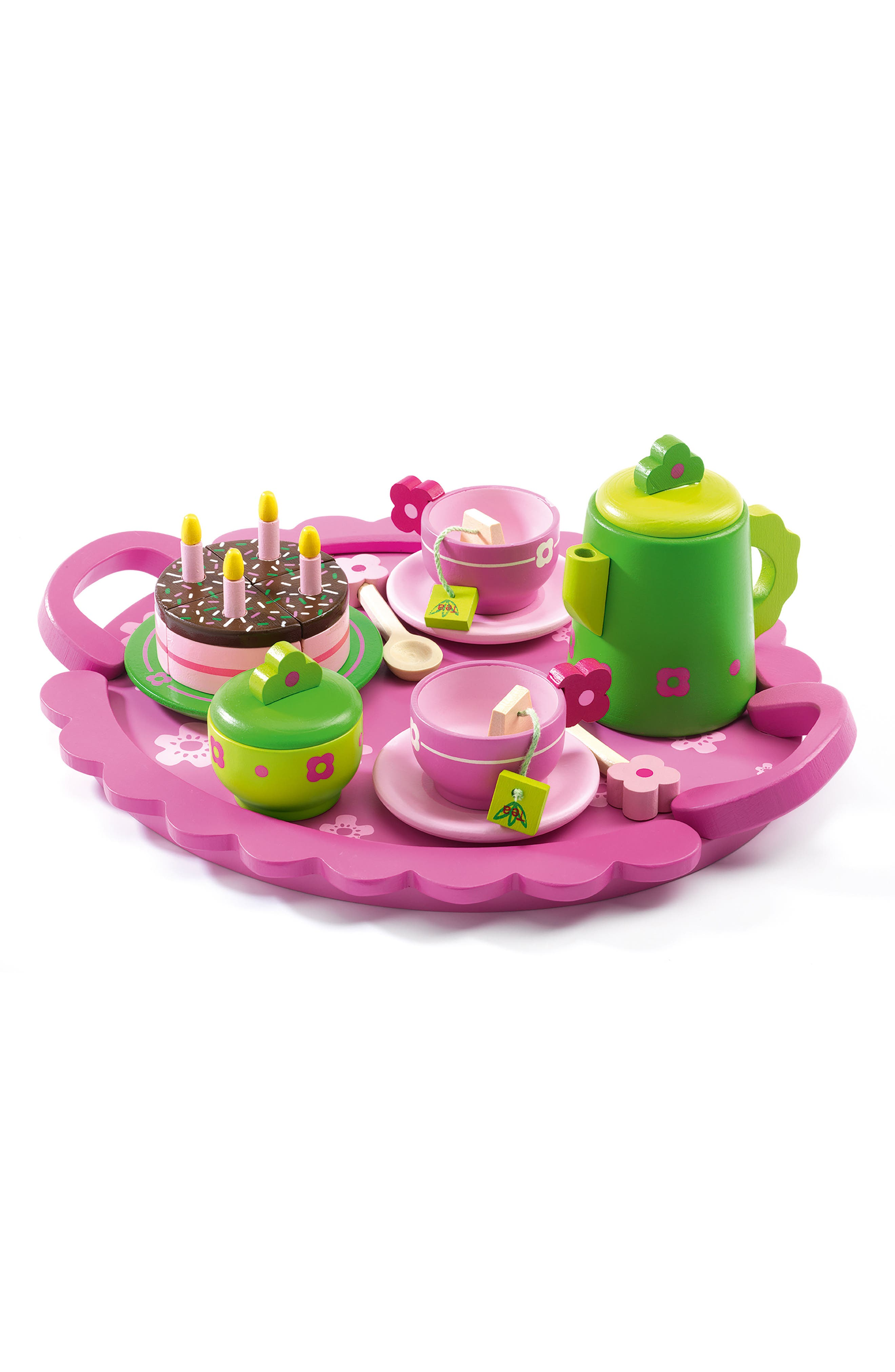 Djeco Birthday Party Wooden Tea Set