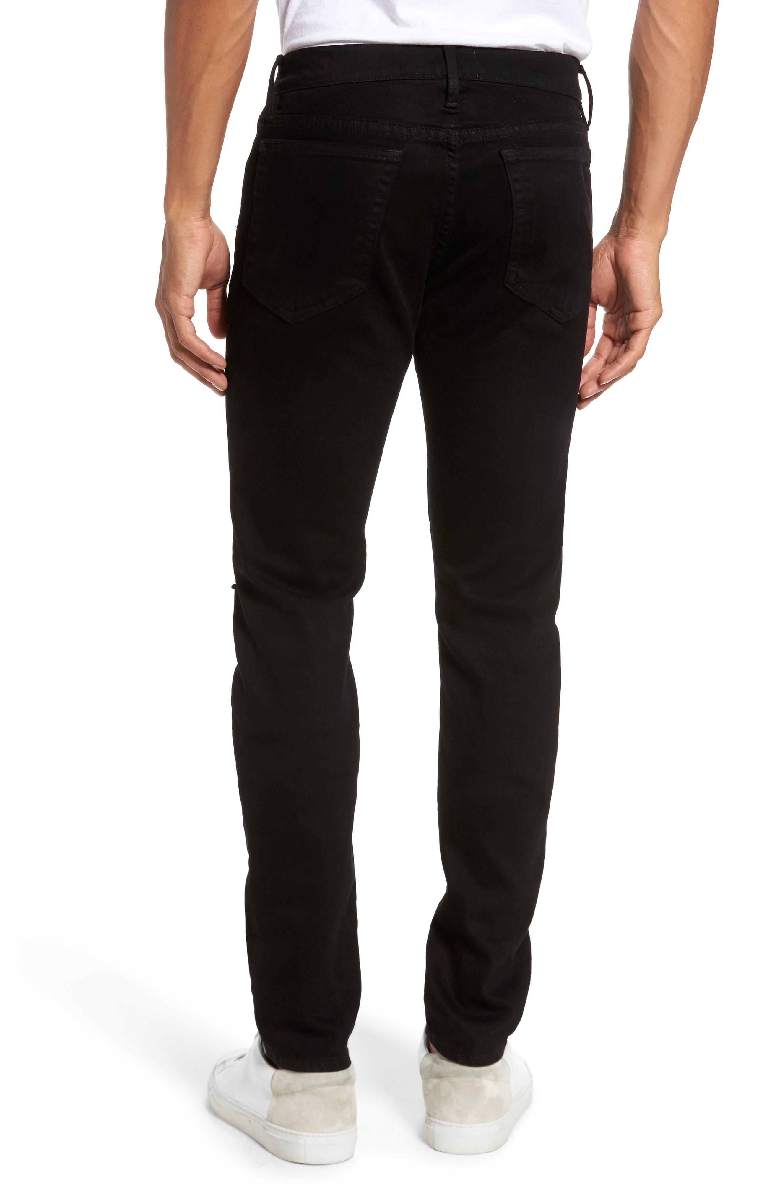 Alternate Image 2  - FRAME L'Homme Slim Fit Jeans (Noir Slits)