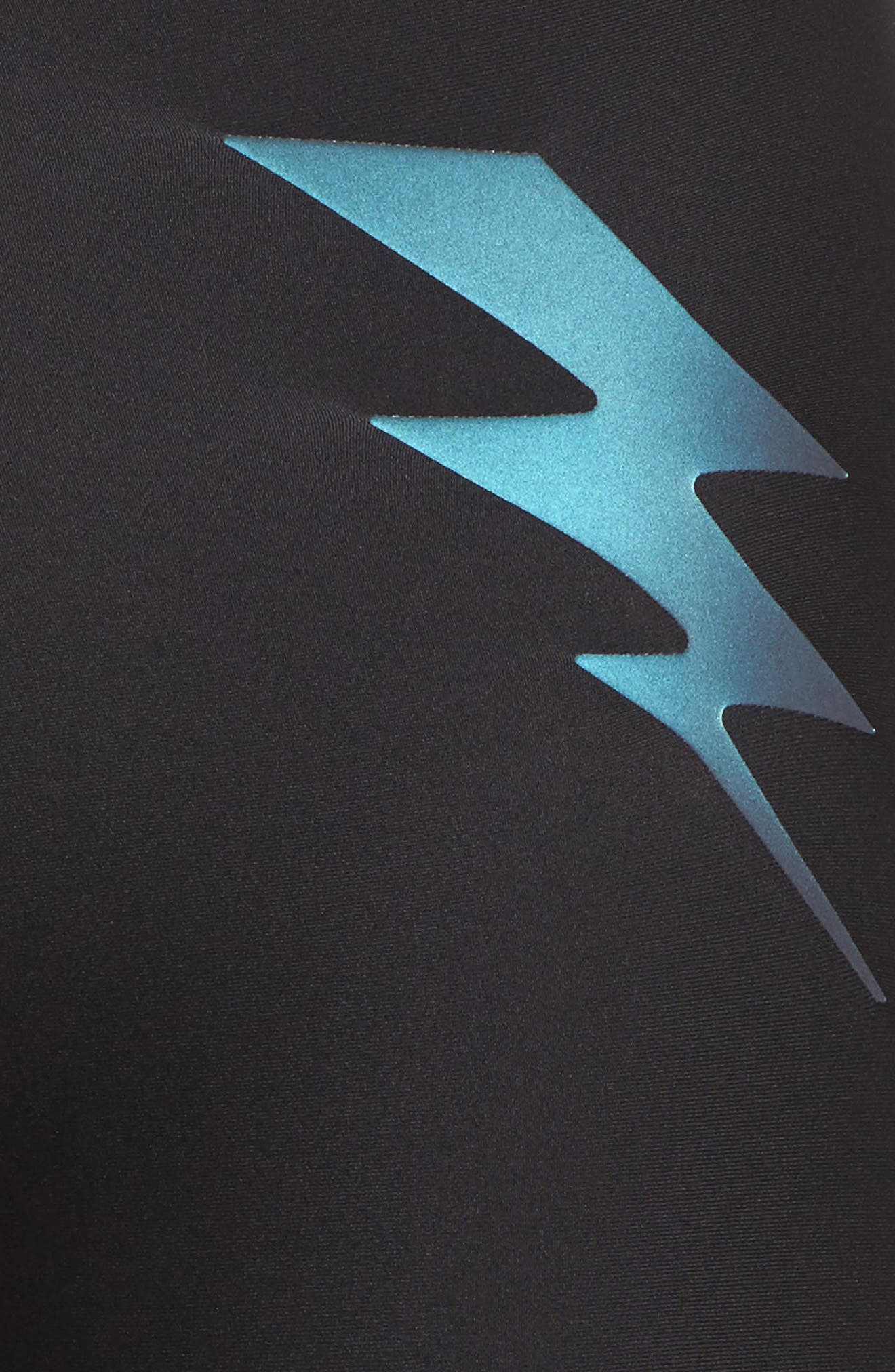 High Rise Leggings,                             Alternate thumbnail 6, color,                             Nero Moonlight