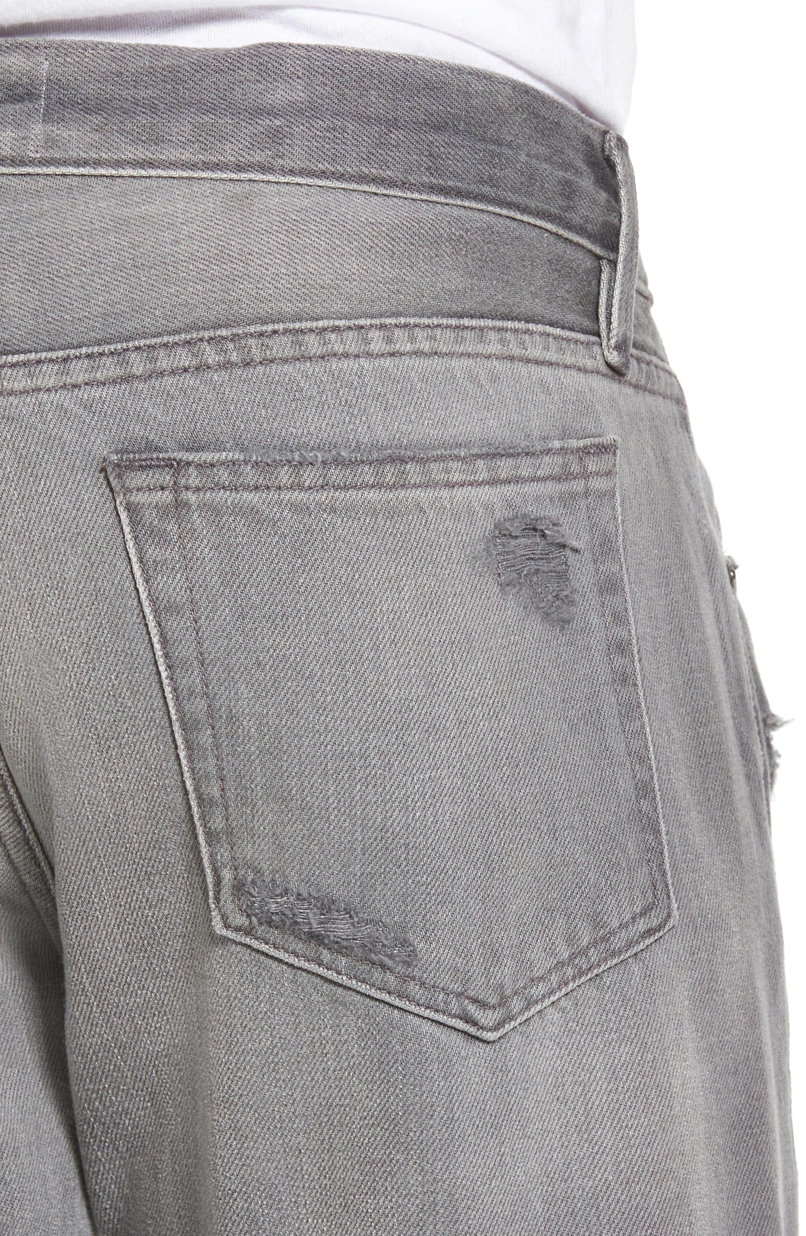 L'Homme Slim Fit Jeans,                             Alternate thumbnail 4, color,                             Grey Fox