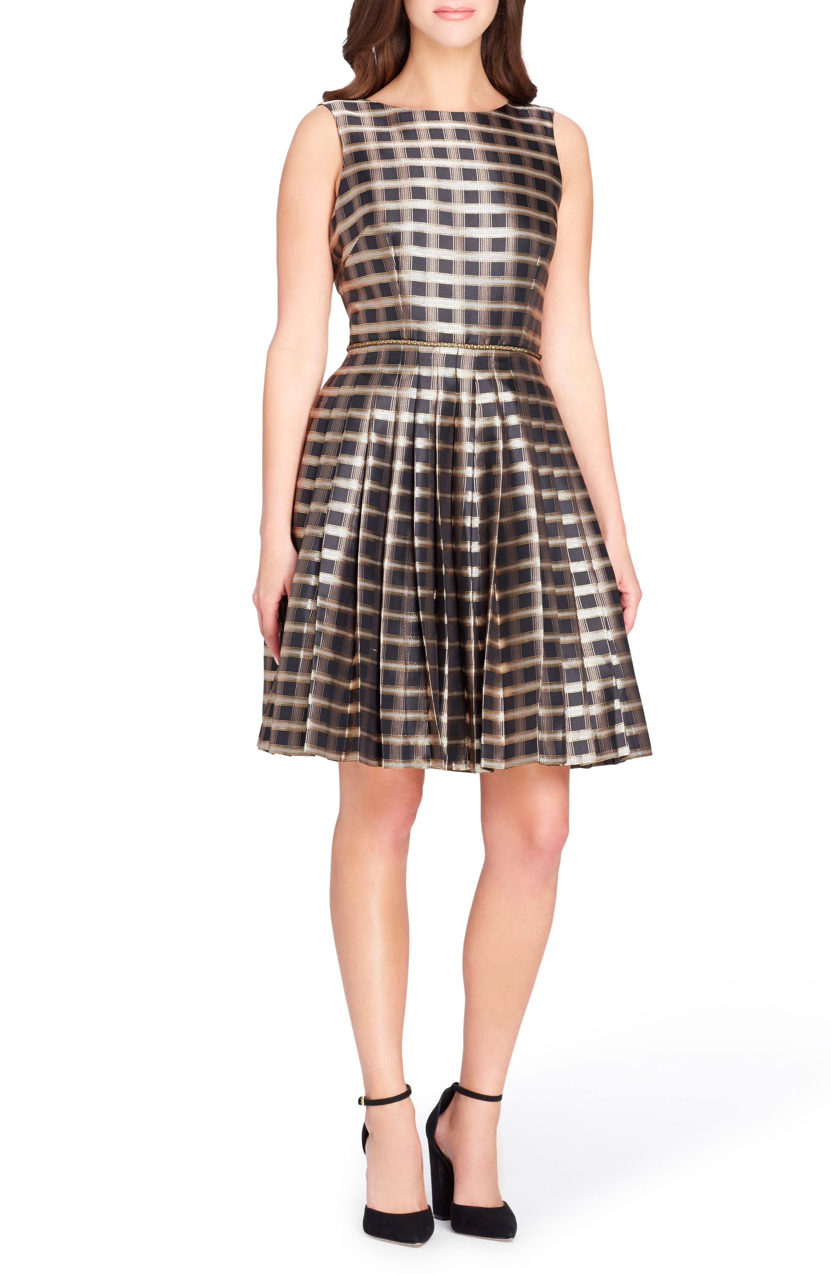 Alternate Image 1 Selected - Tahari Jacquard Fit & Flare Dress