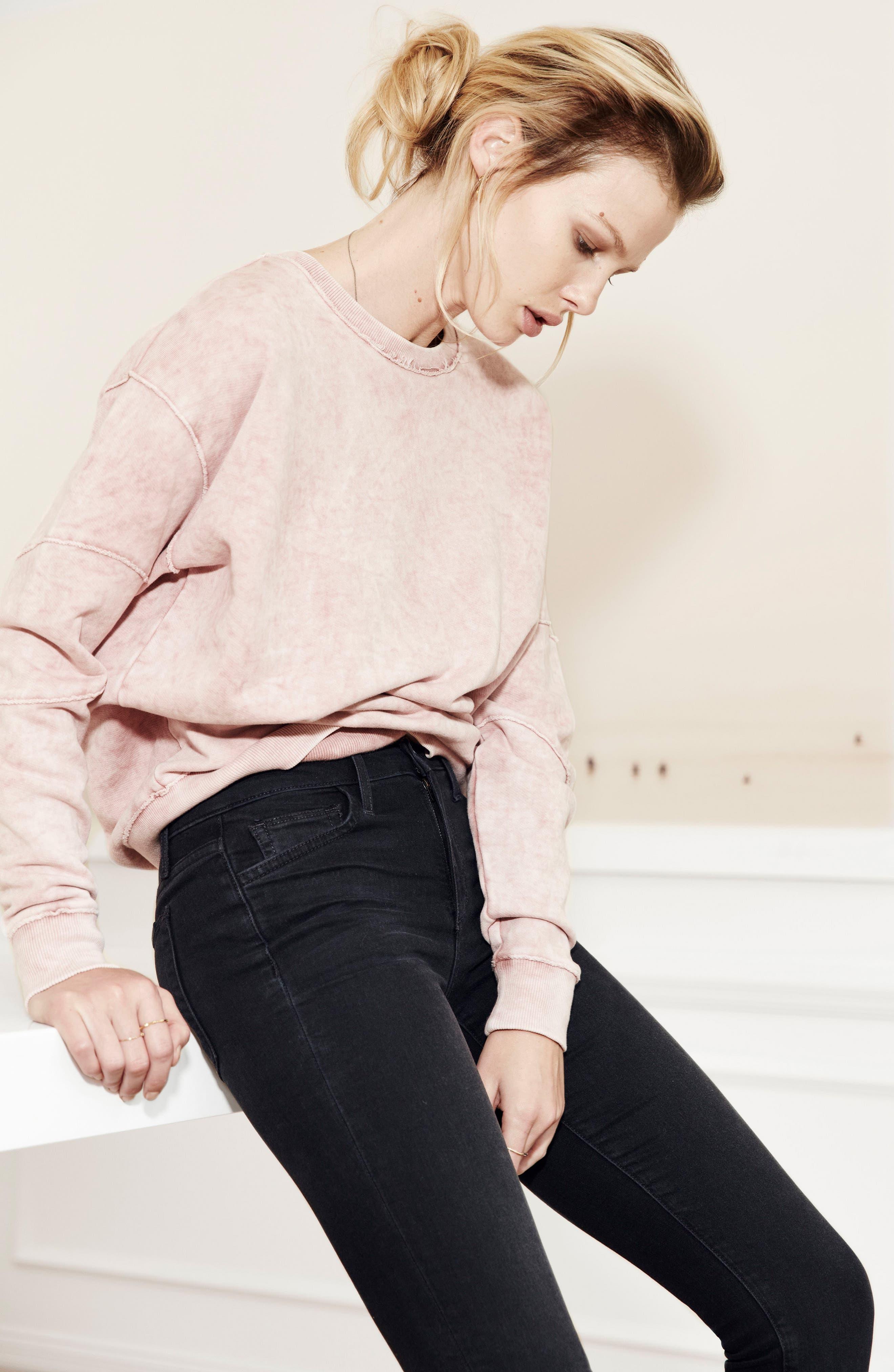 Kendall Sweatshirt,                             Alternate thumbnail 2, color,                             Wood Rose