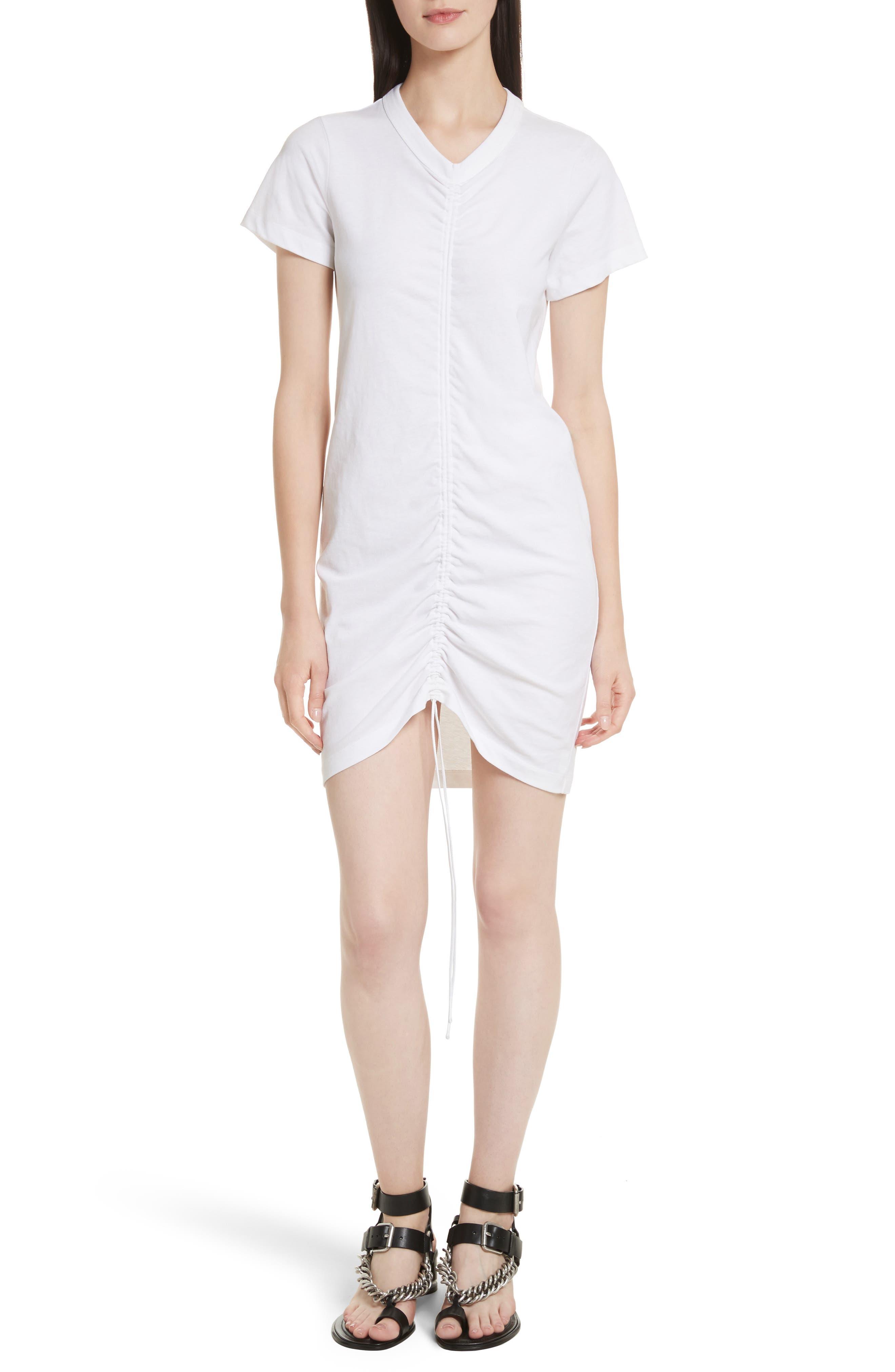 T by Alexander Wang Gathered T-Shirt Dress