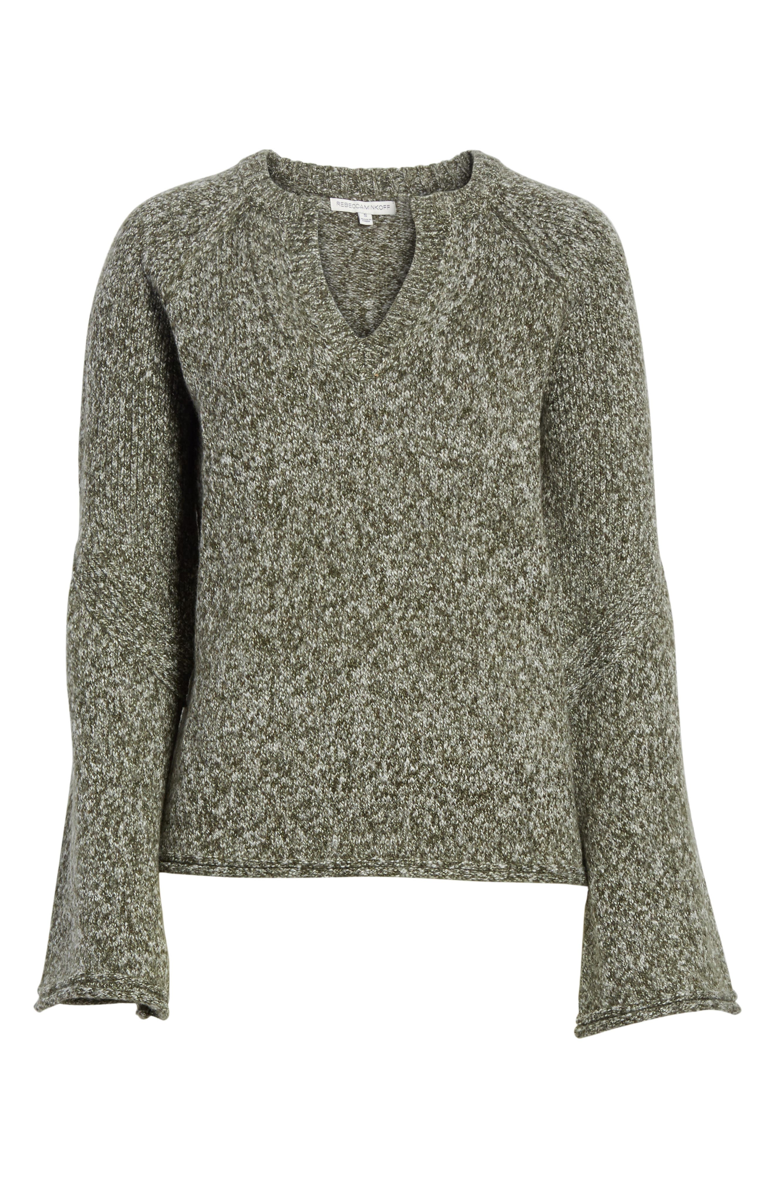 Griffyn Sweater,                             Alternate thumbnail 7, color,                             Military Olive Multi