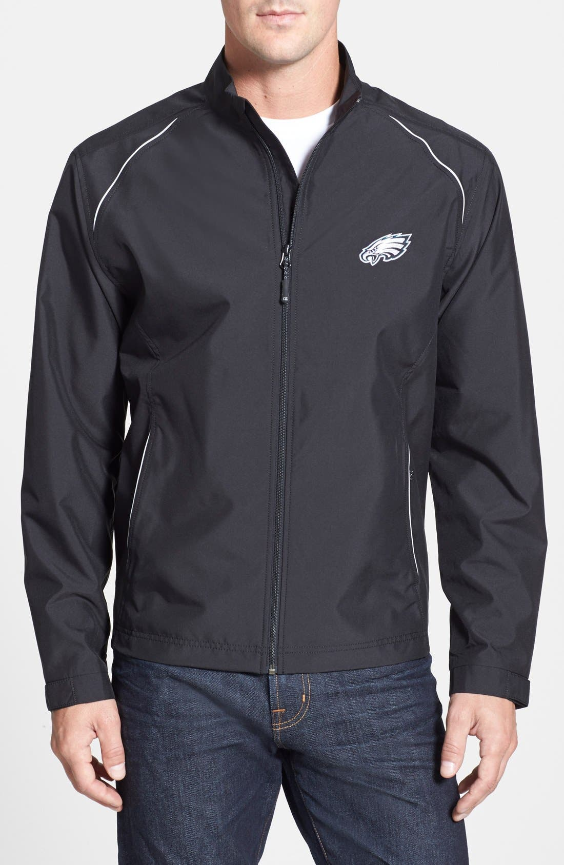 Philadelphia Eagles - Beacon WeatherTec Wind & Water Resistant Jacket,                             Main thumbnail 1, color,                             Black