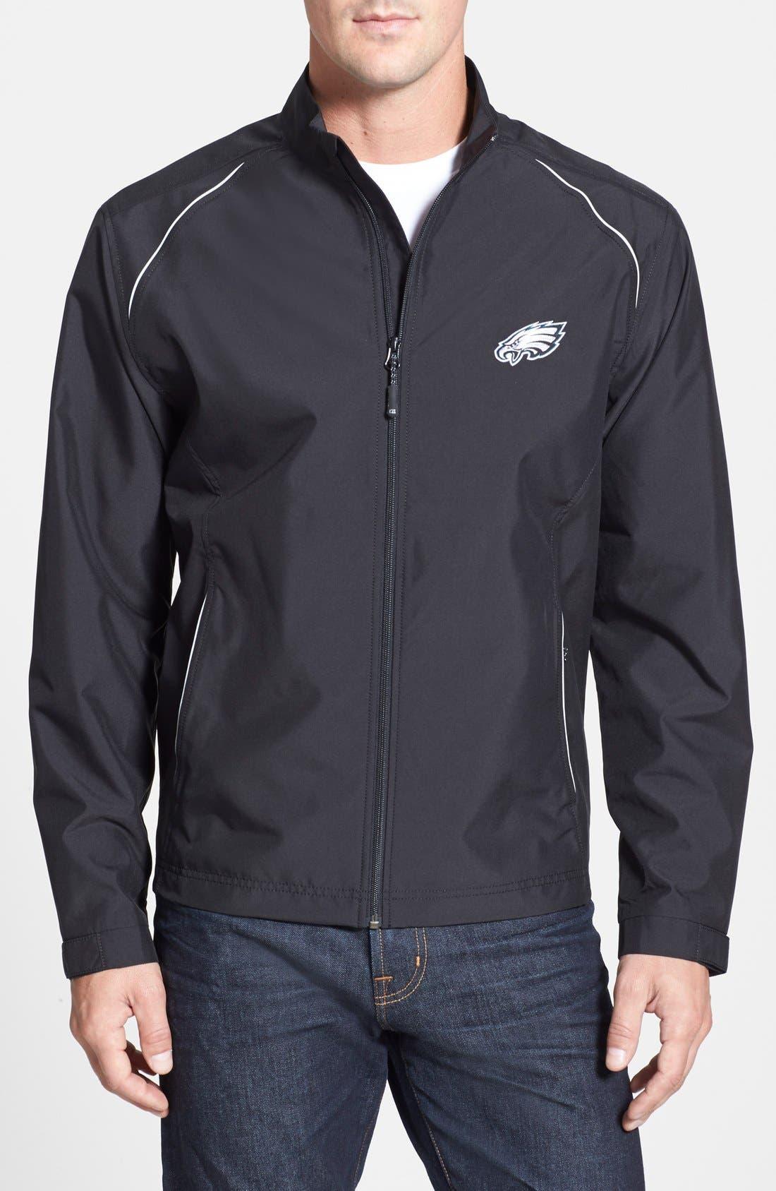 Philadelphia Eagles - Beacon WeatherTec Wind & Water Resistant Jacket,                         Main,                         color, Black
