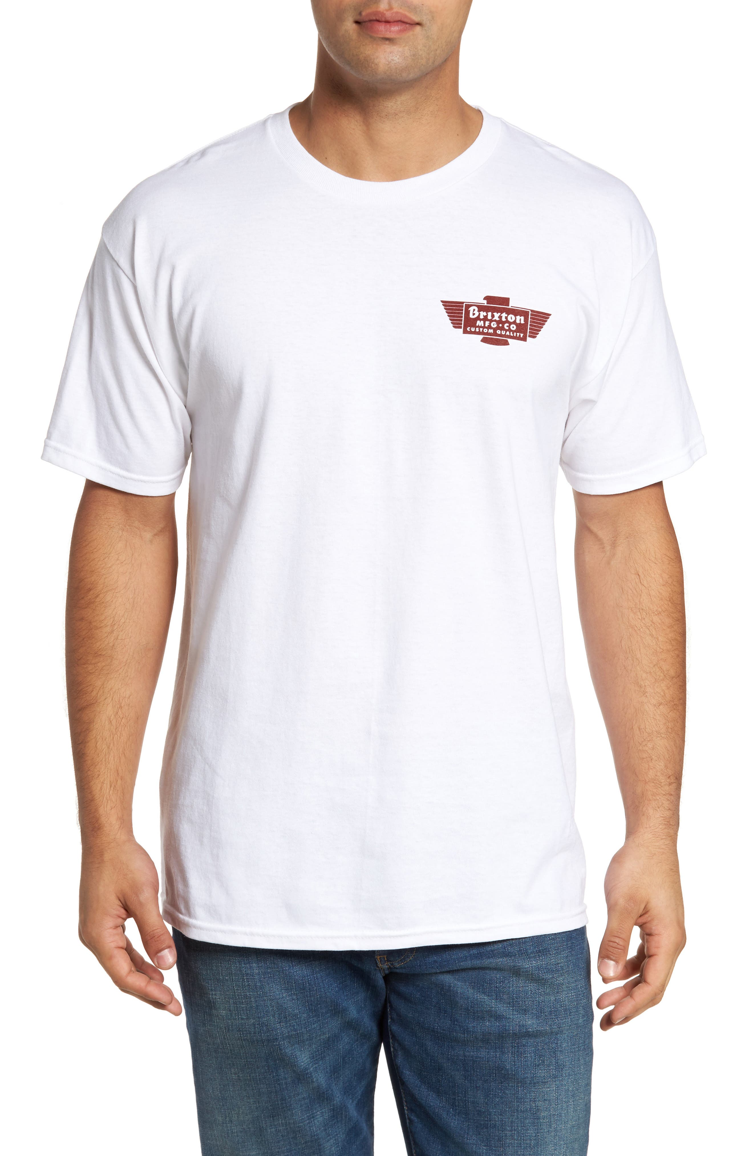 Cylinder Standard T-Shirt,                             Main thumbnail 1, color,                             White/ Burgundy