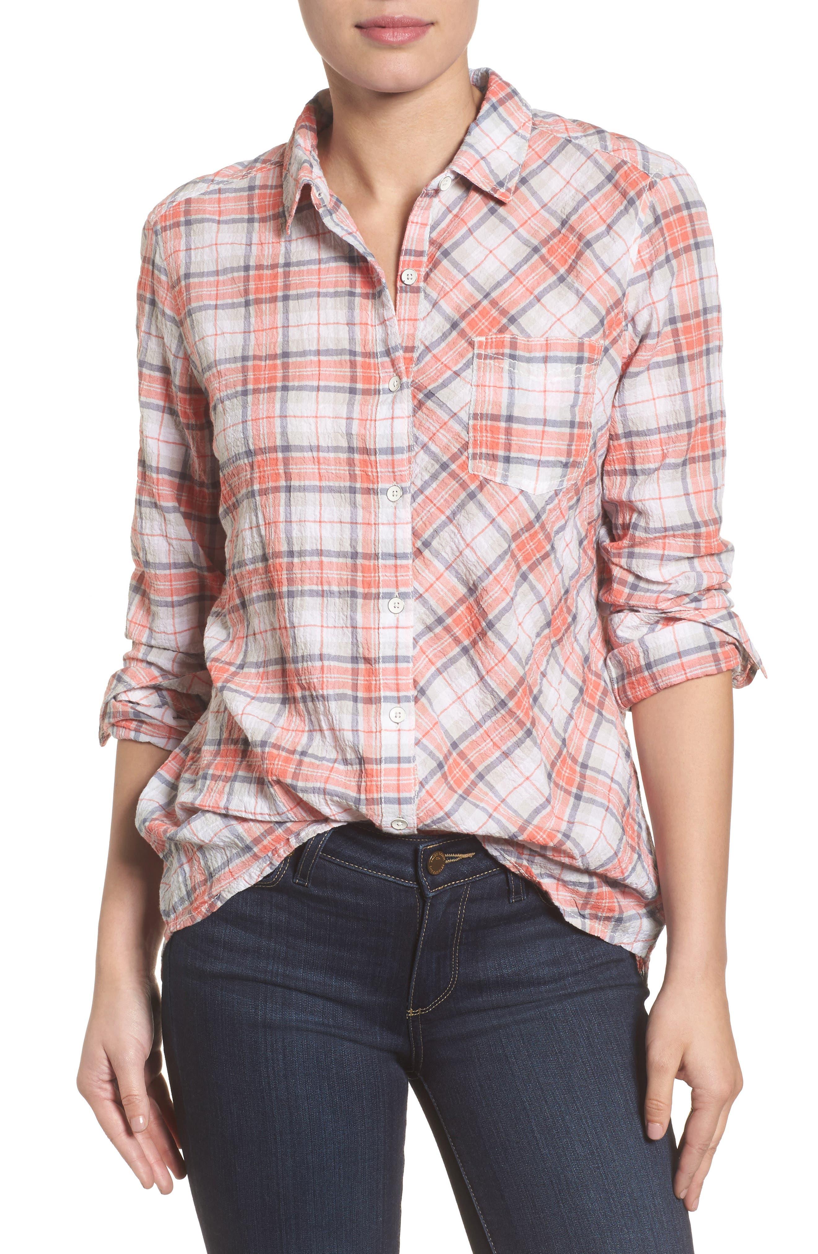 Caslon® Button Up Shirt (Regular & Petite)