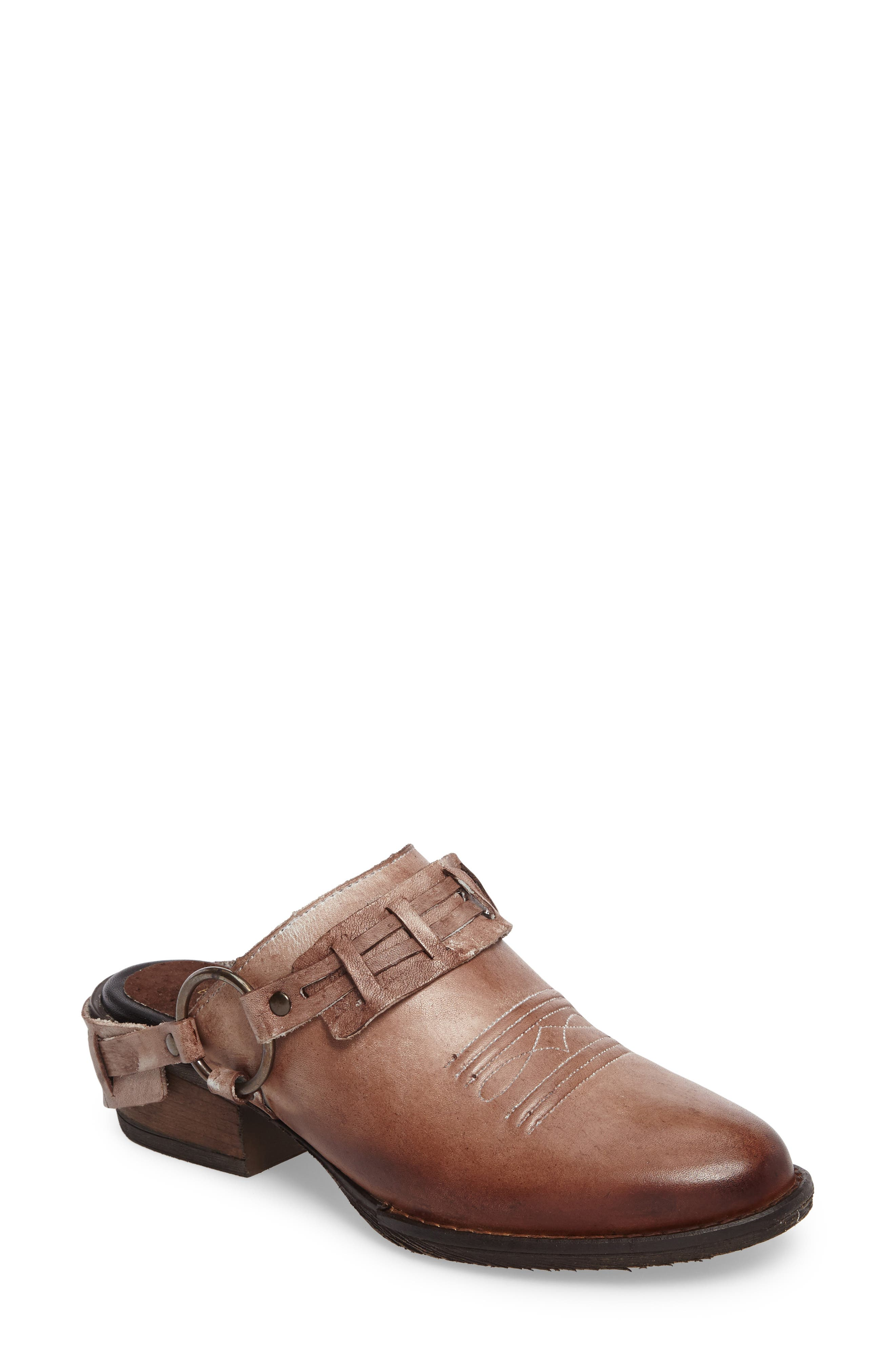 Eriko Western Harness Mule,                             Main thumbnail 1, color,                             Brown