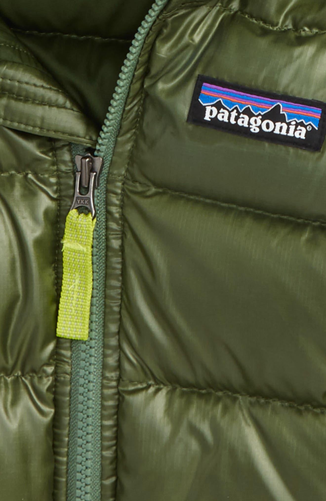 Alternate Image 2  - Patagonia Hi-Loft Water-Repellent 600-Fill Power Down Sweater Hoodie (Baby Boys)