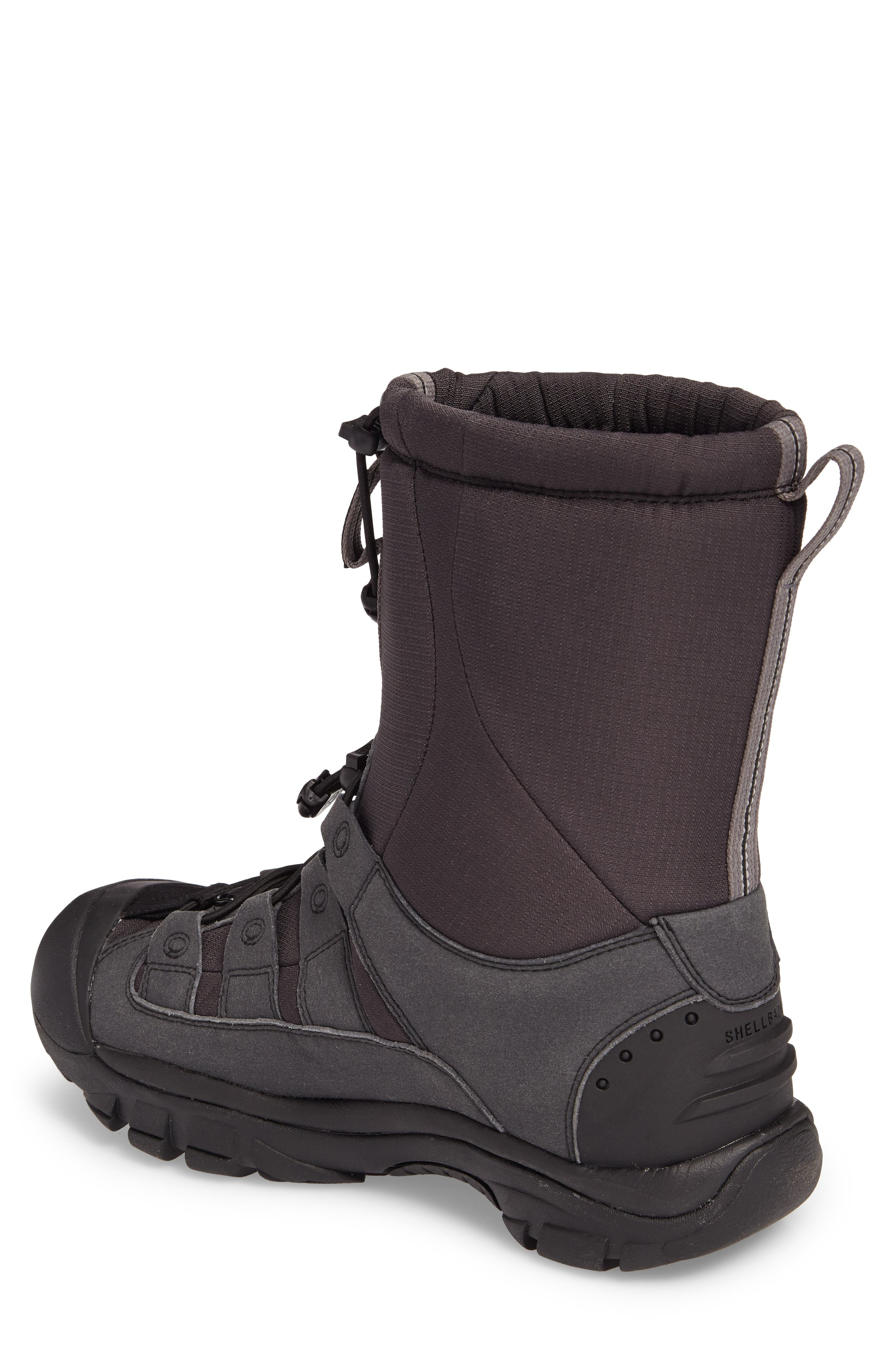 Winterport II Waterproof Insulated Snow Boot,                             Alternate thumbnail 2, color,                             Black/ Frost Gray