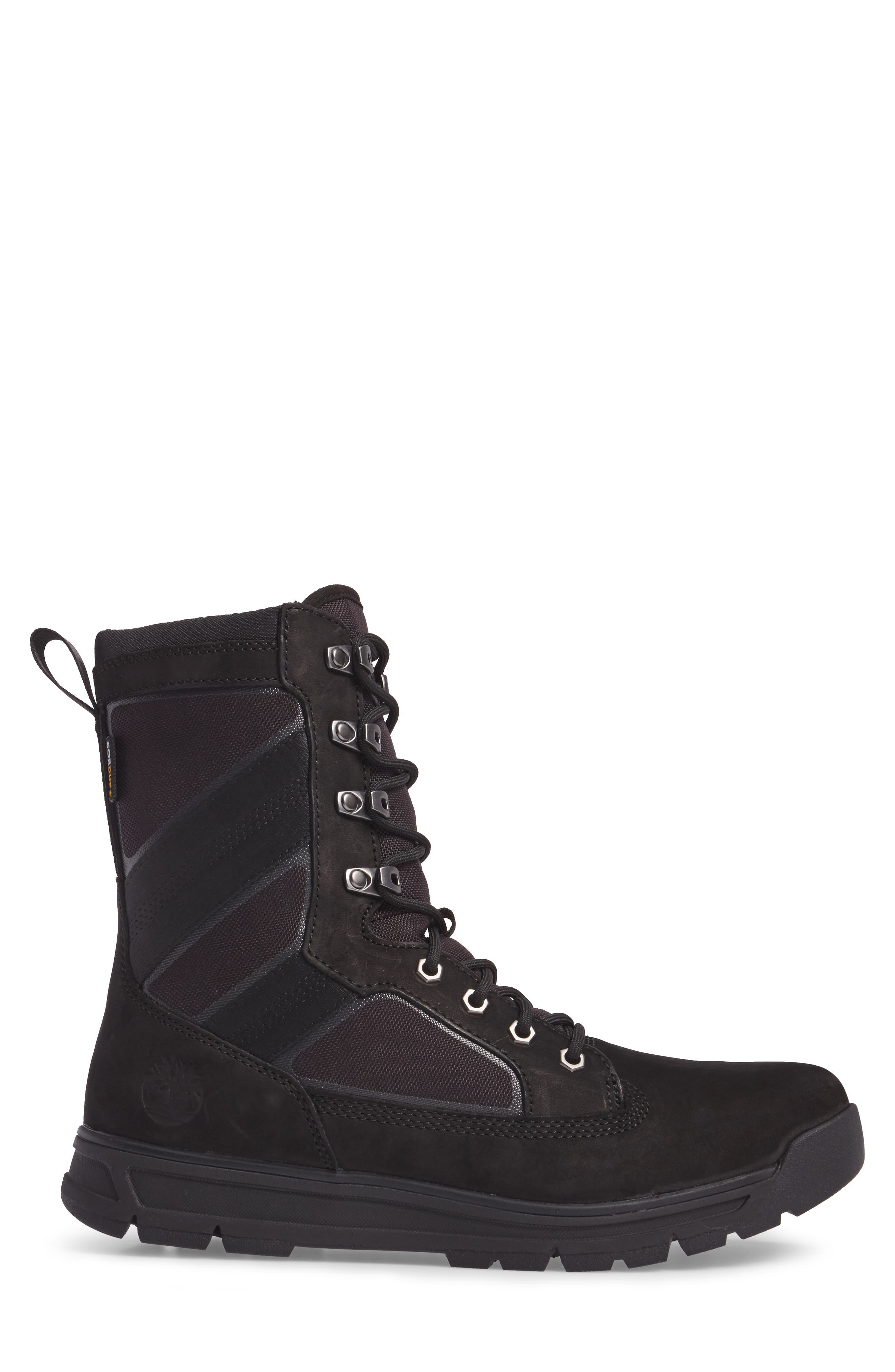 Field Guide Boot,                             Alternate thumbnail 3, color,                             Black Leather