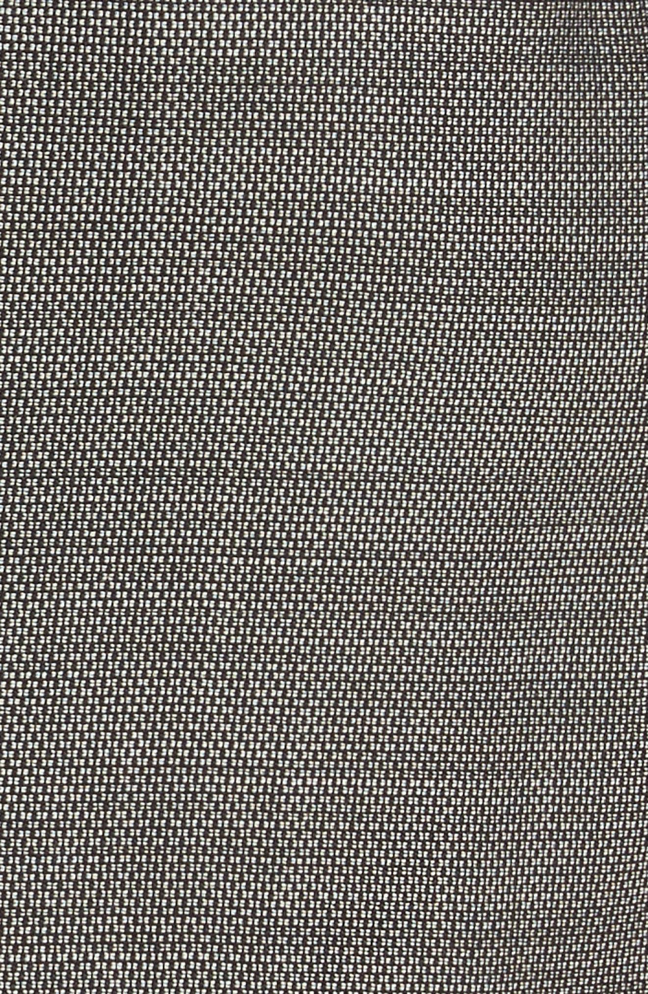 Canapa Stretch Wool Layered Sheath Dress,                             Alternate thumbnail 6, color,                             Black