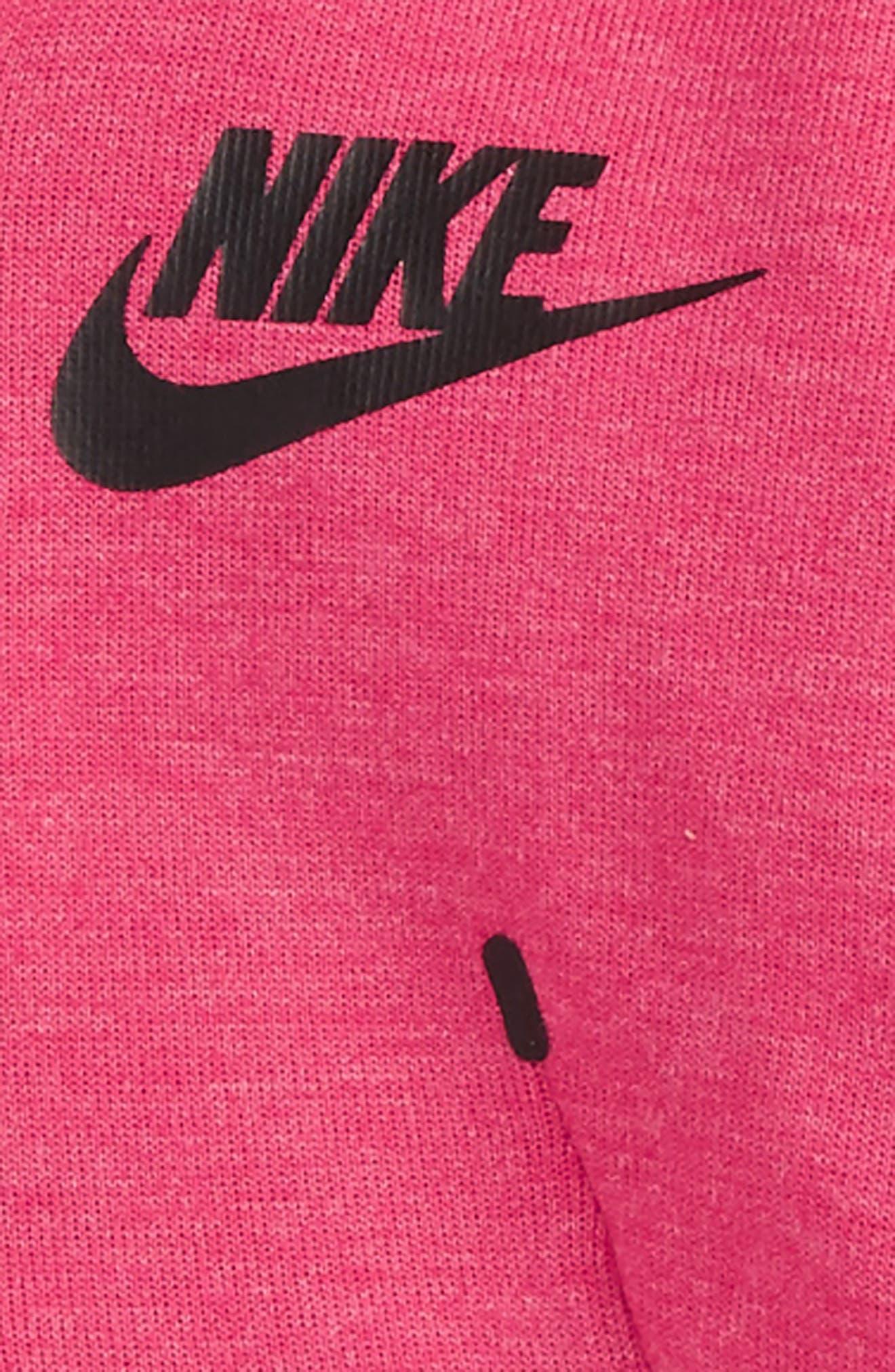 Alternate Image 2  - Nike Tech Fleece Hooded Romper (Baby Girls)
