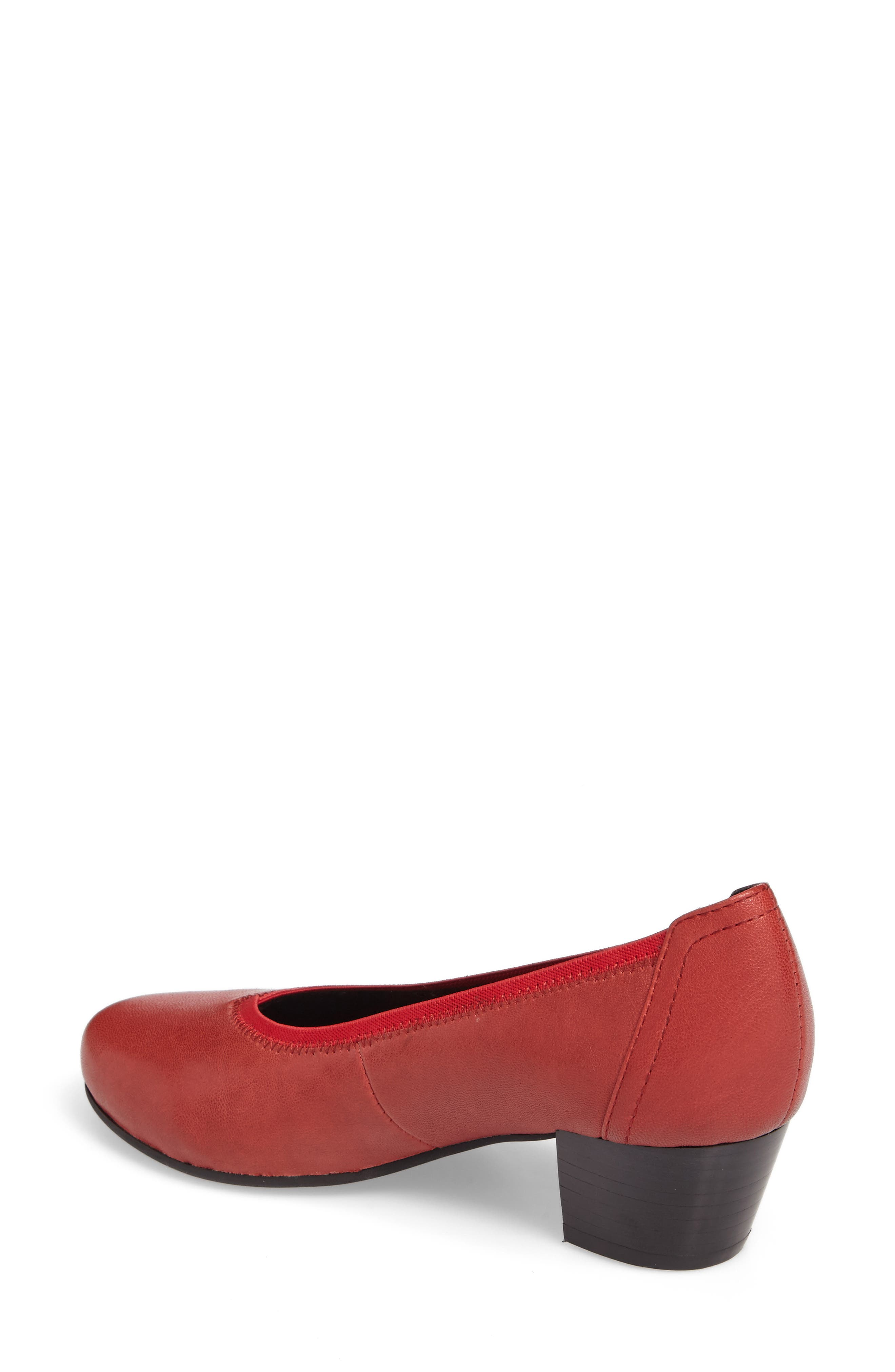Madera Pump,                             Alternate thumbnail 2, color,                             Red Leather