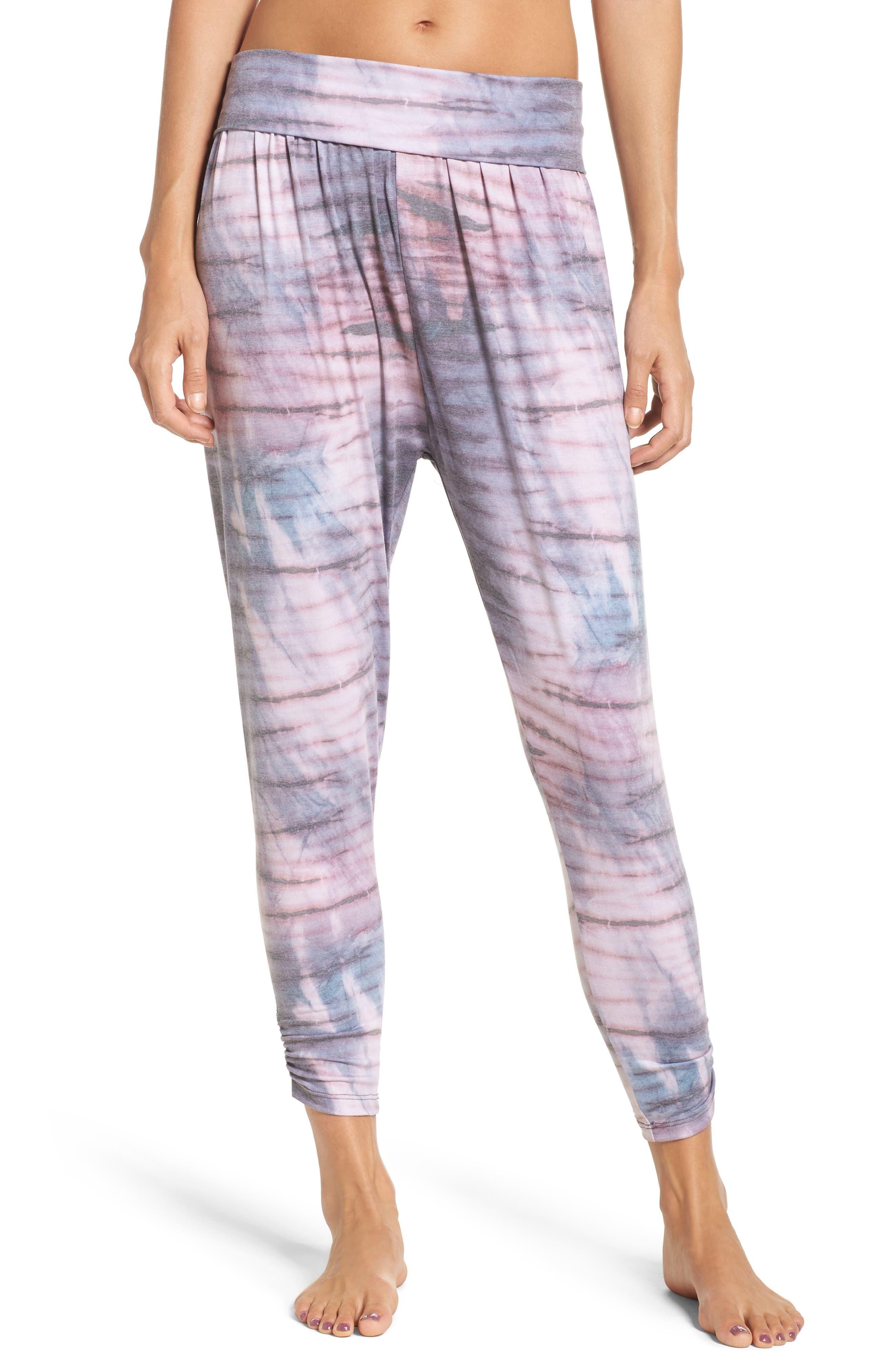 Harem Pants,                         Main,                         color, Blush Tie Dye