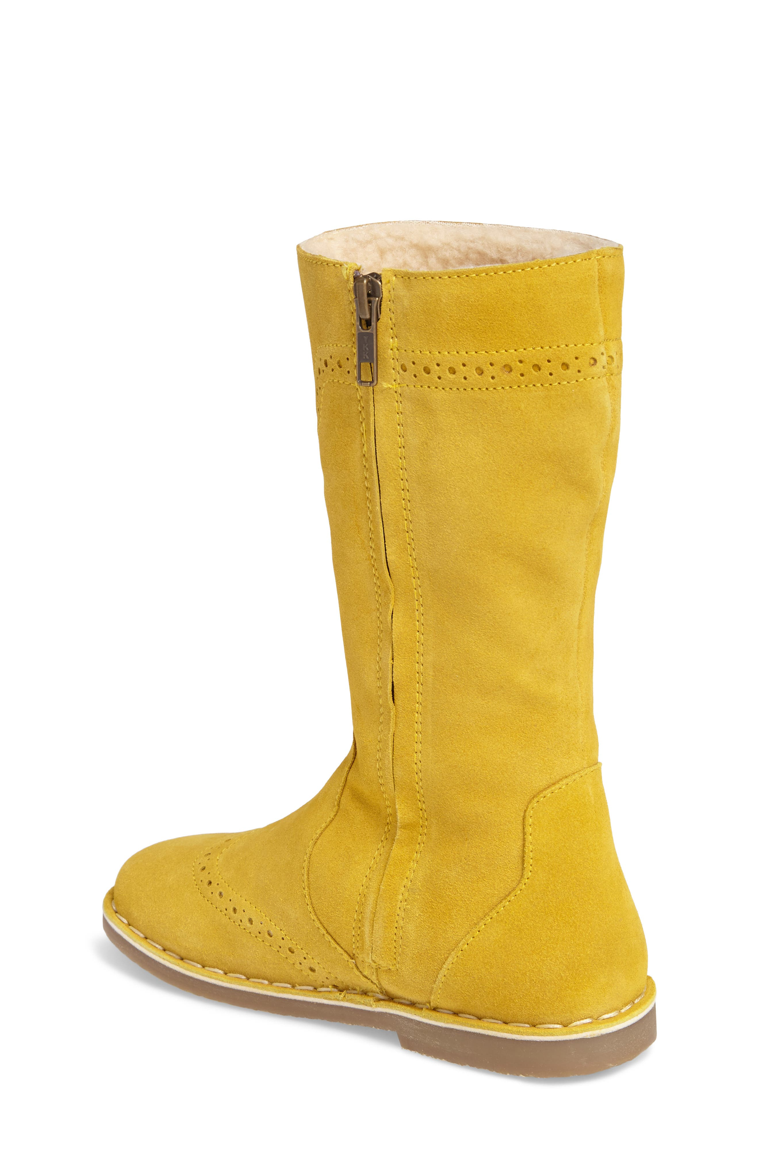 Alternate Image 2  - Mini Boden Tall Leather Boot (Toddler, Little Kid & Big Kid)