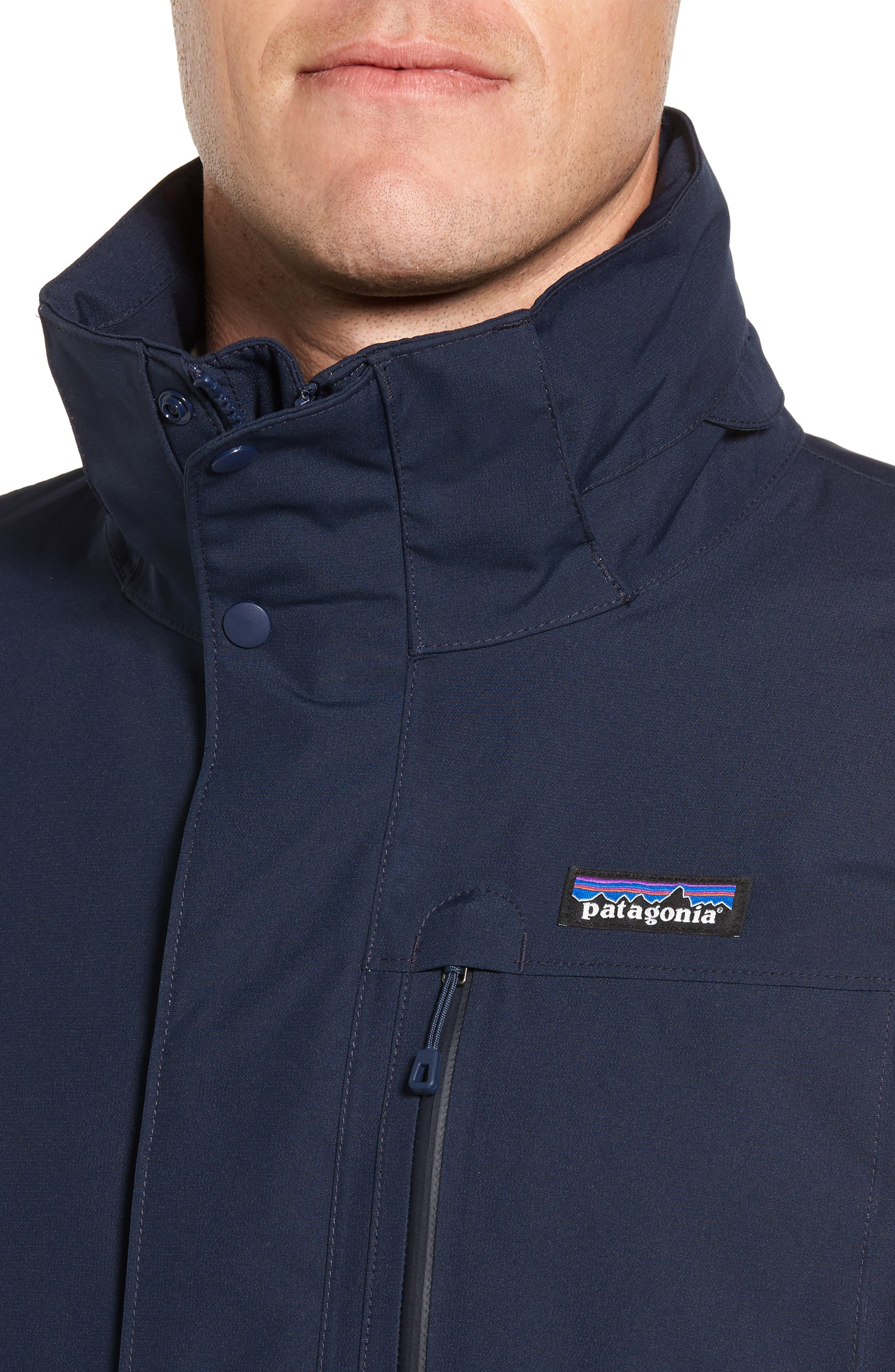 Topley Waterproof Jacket,                             Alternate thumbnail 4, color,                             Navy Blue