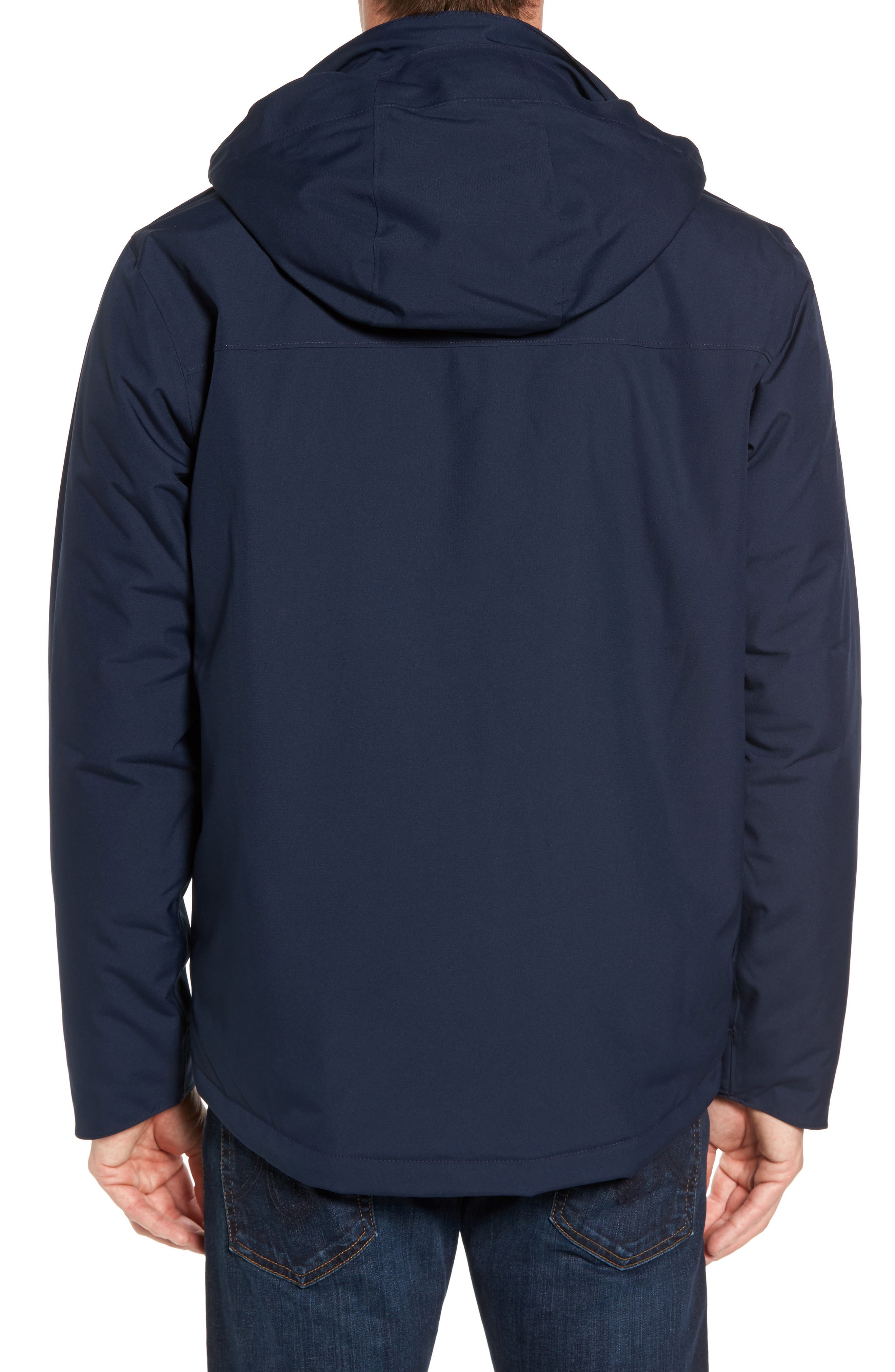 Topley Waterproof Jacket,                             Alternate thumbnail 2, color,                             Navy Blue