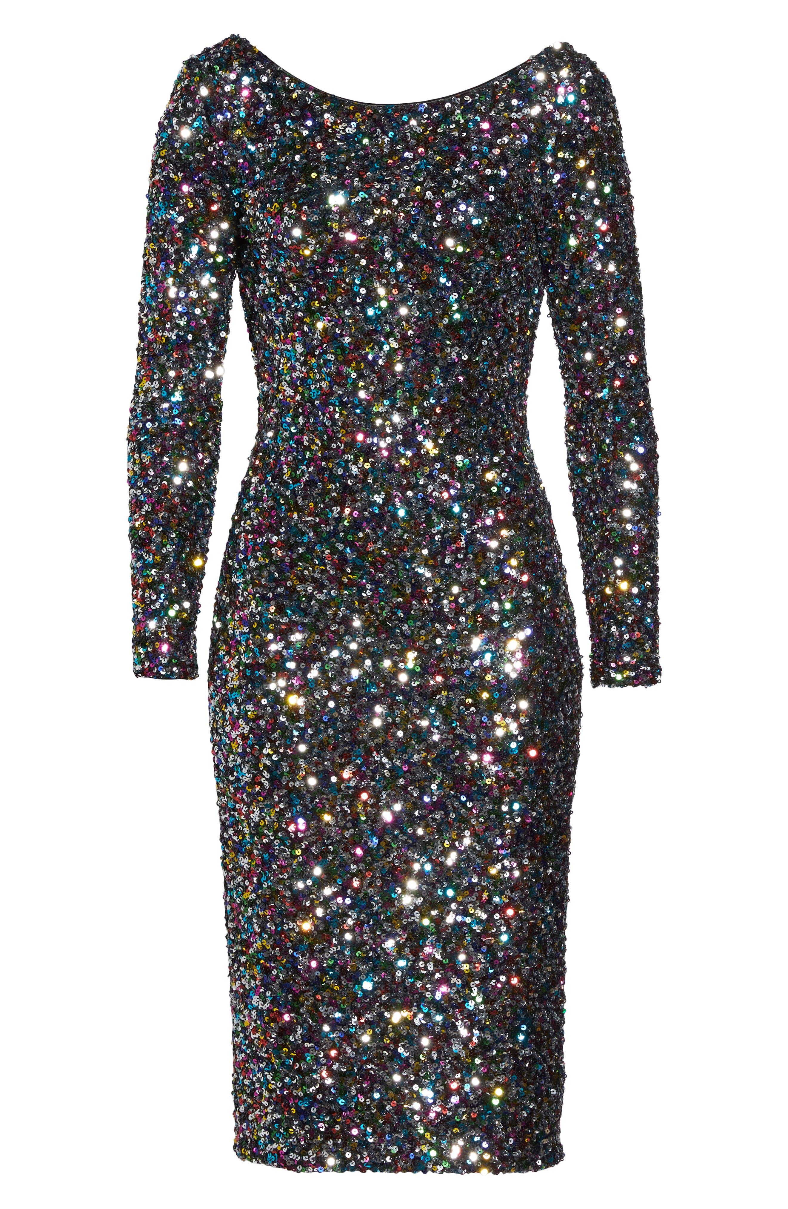 Alternate Image 7  - Dress the Population Emery Ombré Sequin Body-Con Dress