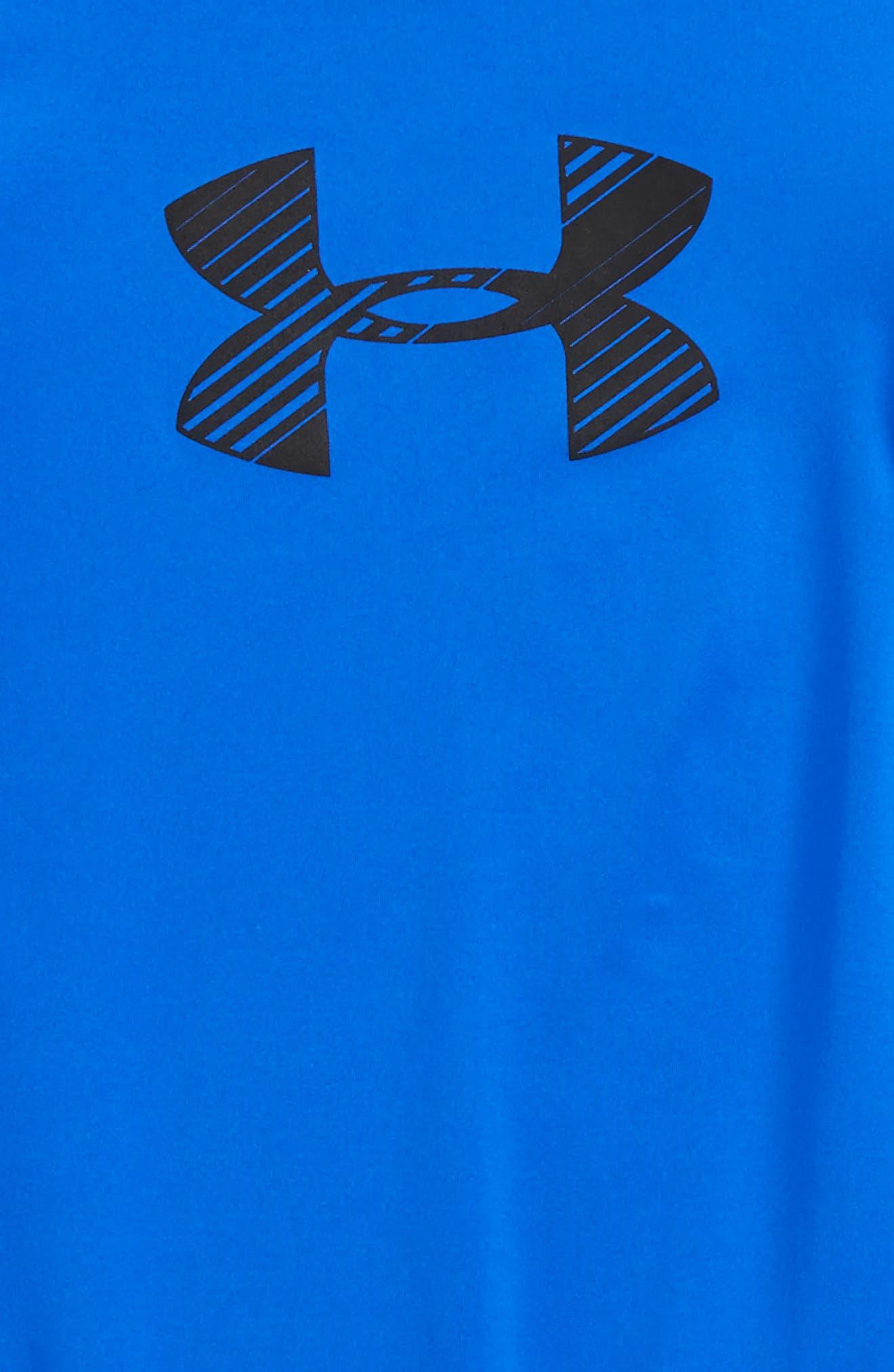 Novelty HeatGear<sup>®</sup> Shirt,                             Alternate thumbnail 3, color,                             Ultra Blue/ Black
