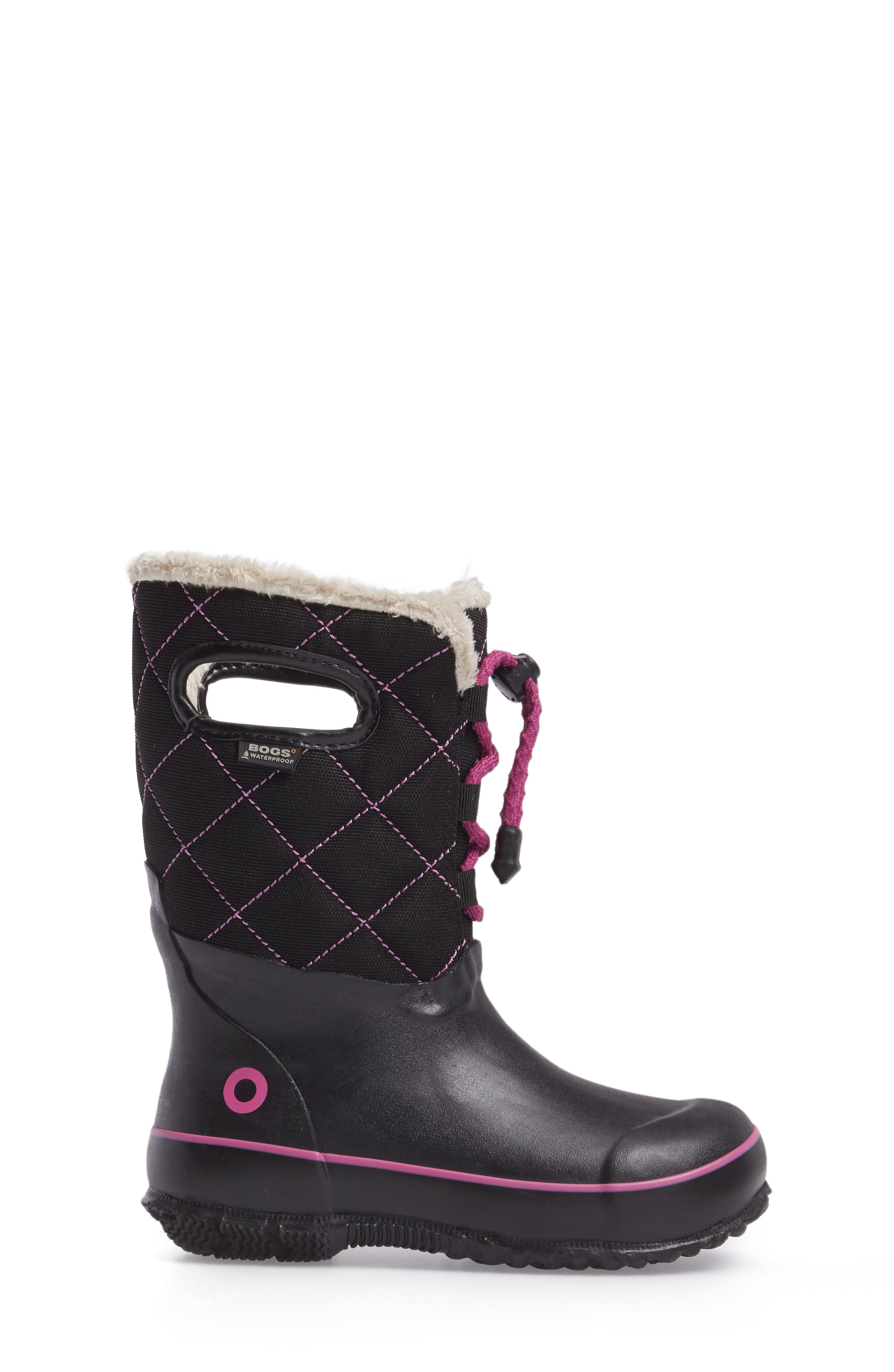 Juno Faux Fur Insulated Waterproof Boot,                             Alternate thumbnail 3, color,                             Black Multi
