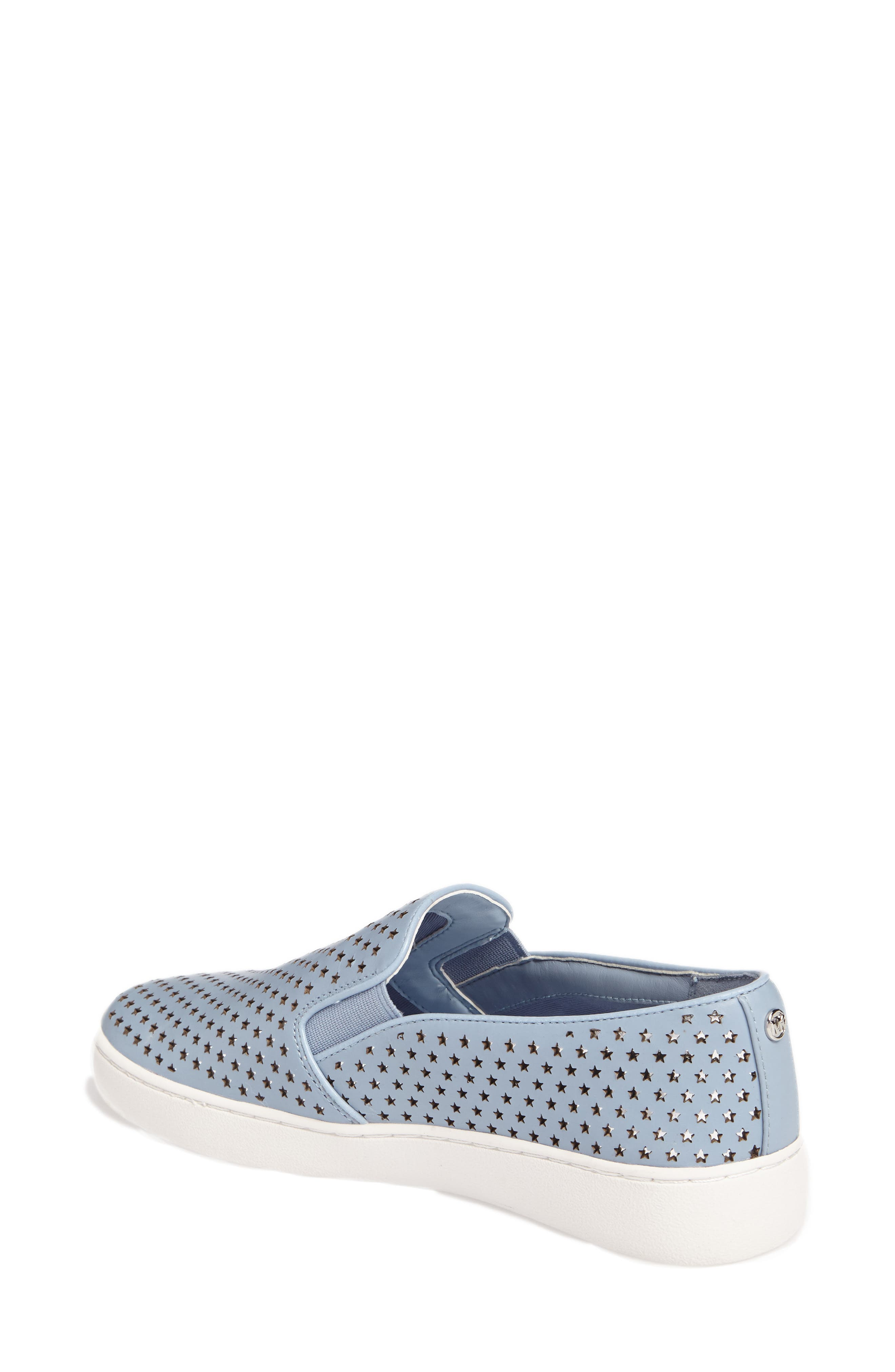 Keaton Slip-On Sneaker,                             Alternate thumbnail 2, color,                             Pale Blue Perforated Star