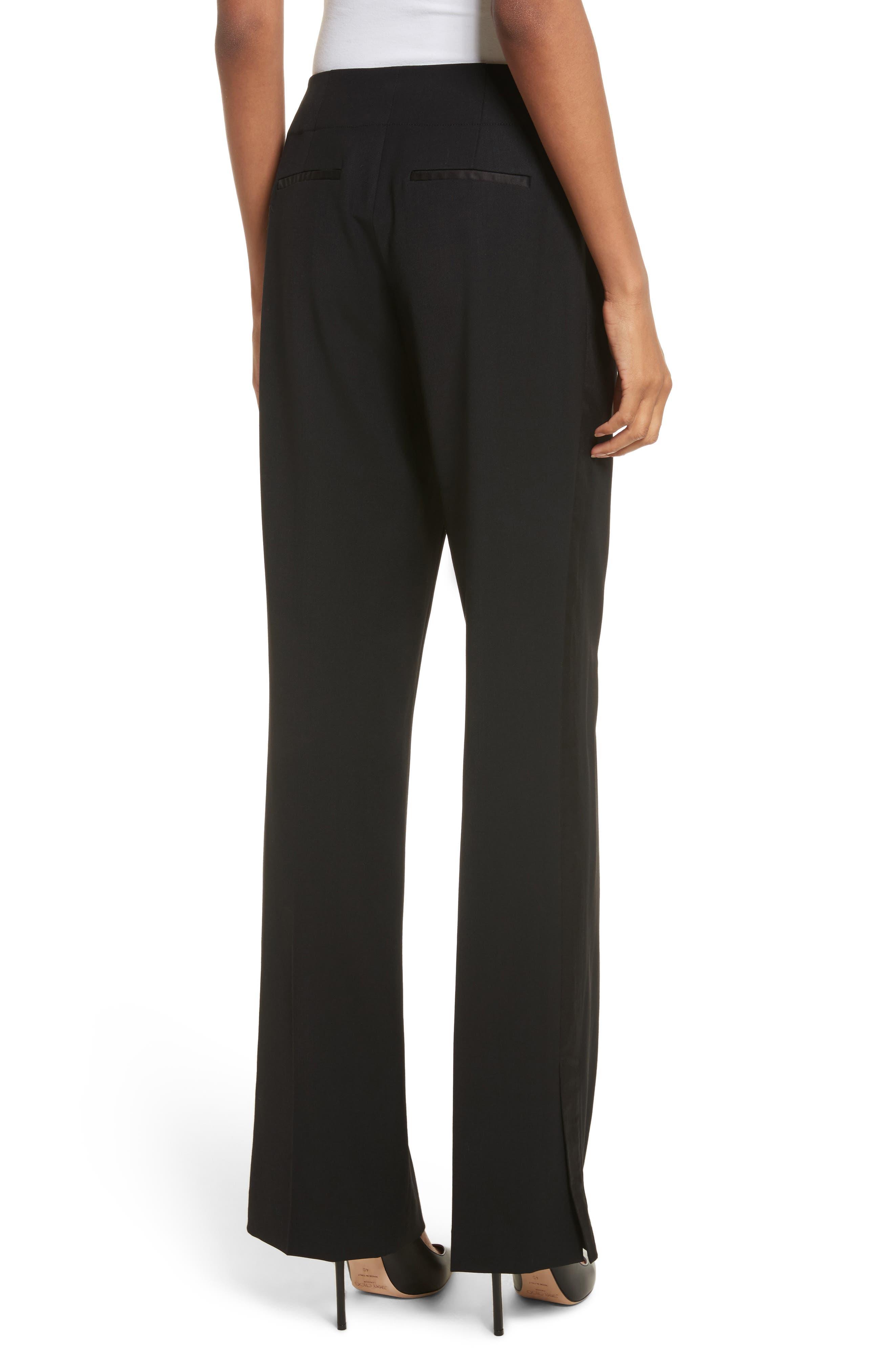 Alternate Image 2  - Rebecca Stretch Wool Tuxedo Pants