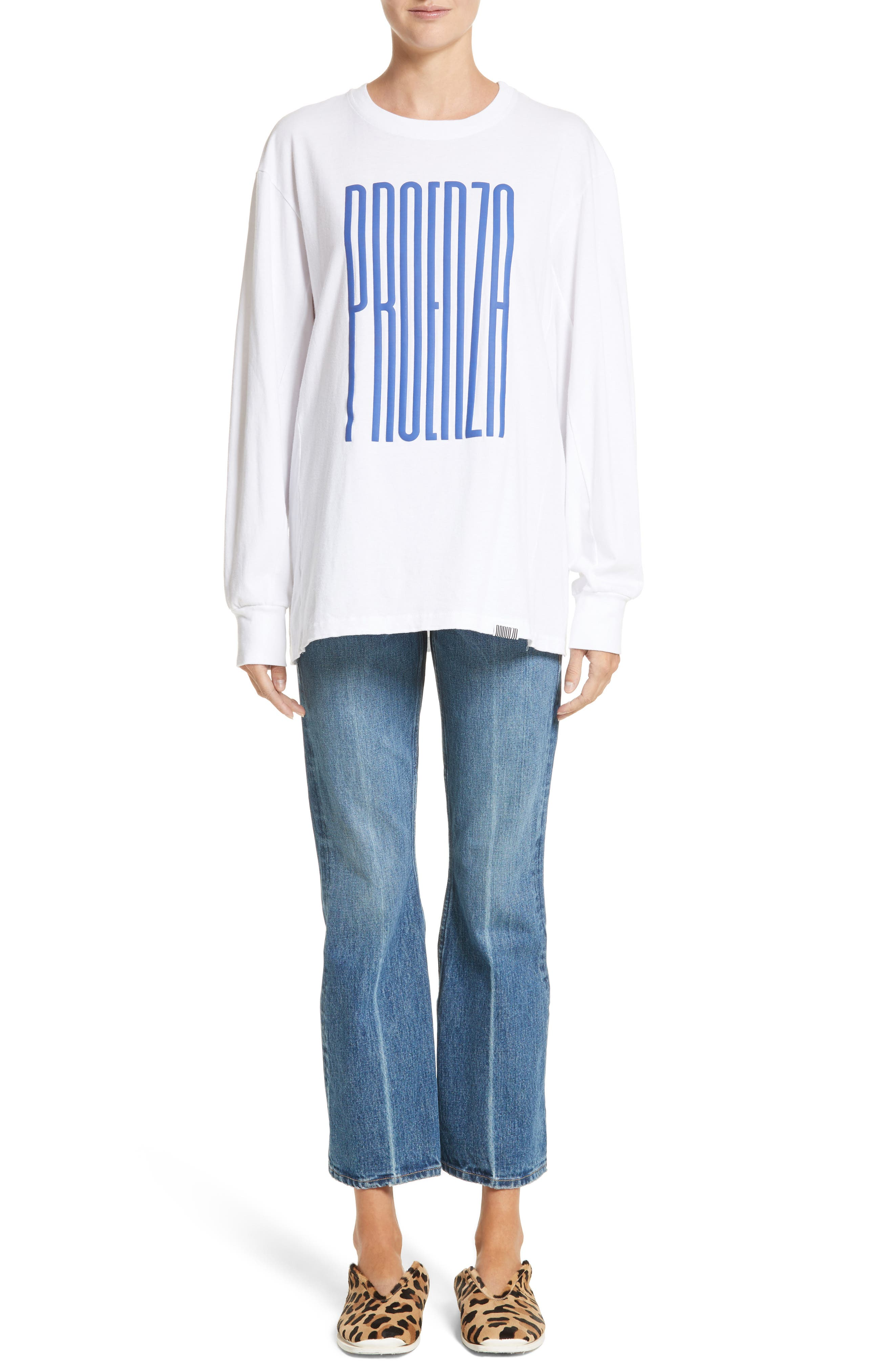PSWL Graphic Jersey Tee,                             Alternate thumbnail 7, color,                             Blue Proenza Schouler
